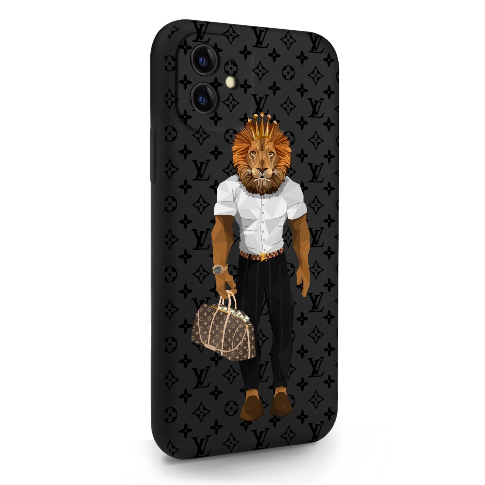 Черный силиконовый чехол для iPhone 11 LV Lion для Айфон 11