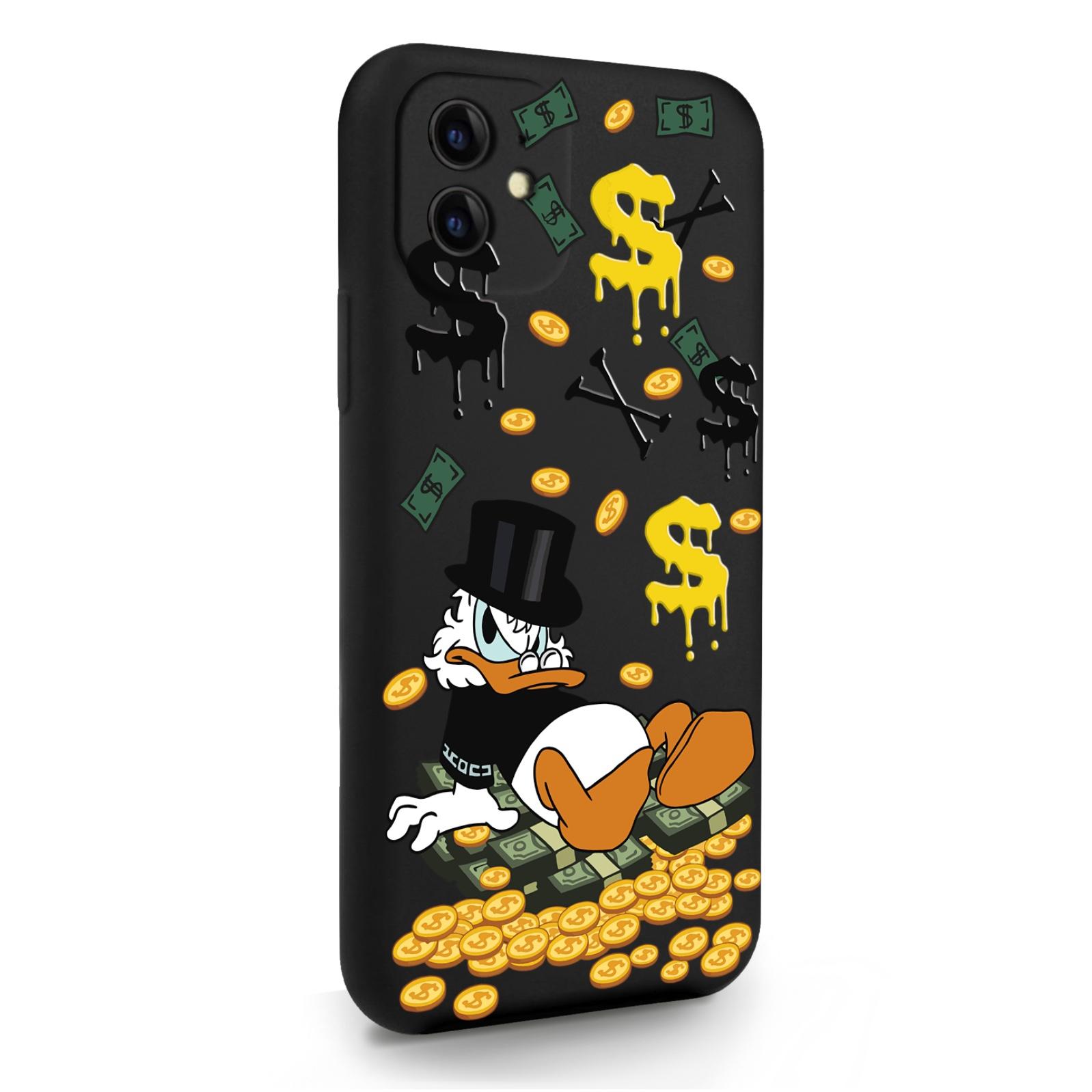 Черный силиконовый чехол для iPhone 11 Богатенькая Утка для Айфон 11