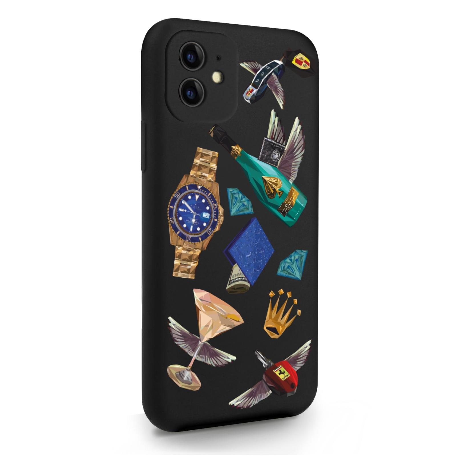 Черный силиконовый чехол для iPhone 11 Luxury lifestyle для Айфон 11