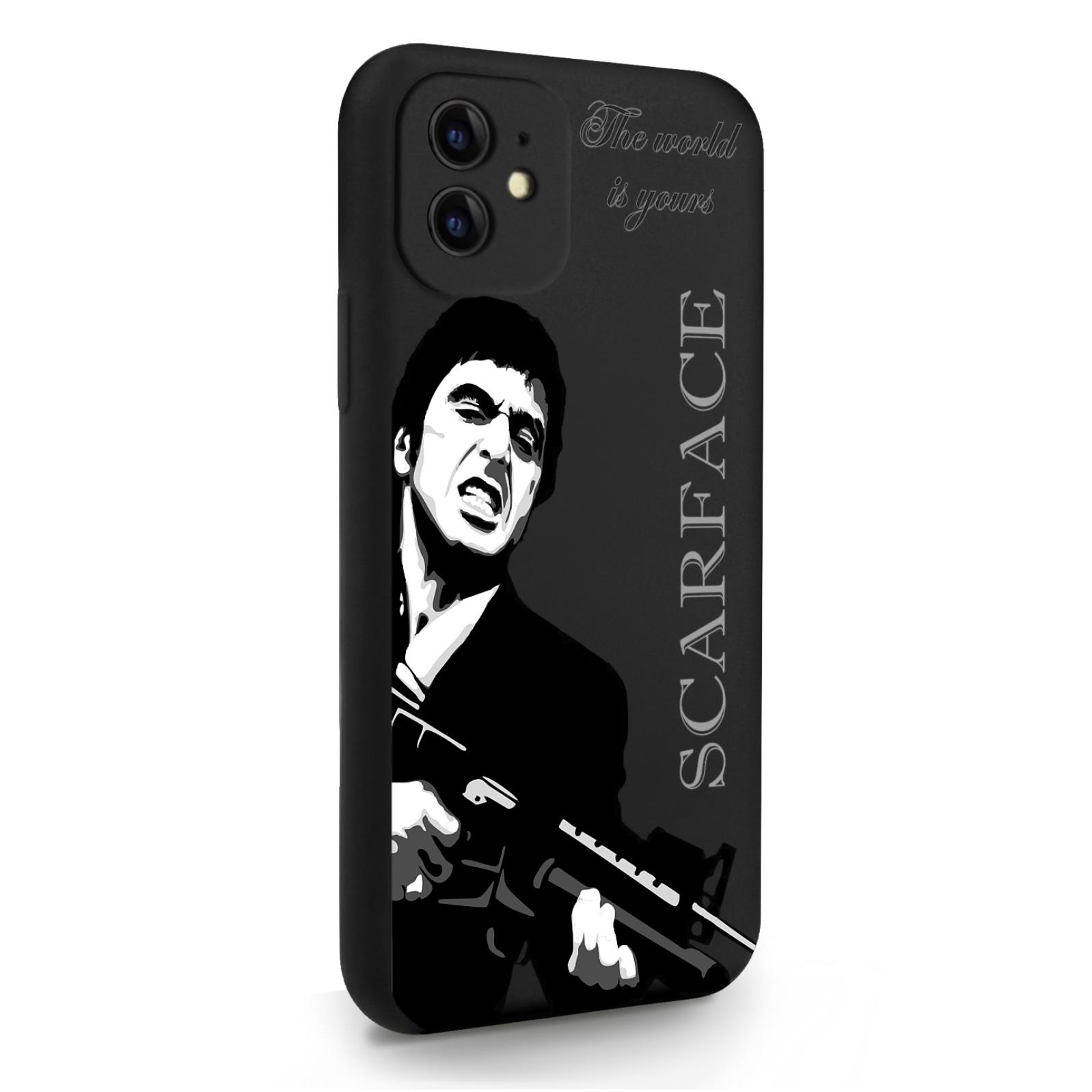Черный силиконовый чехол для iPhone 11 Scarface Tony Montana/ Лицо со шрамом для Айфон 11