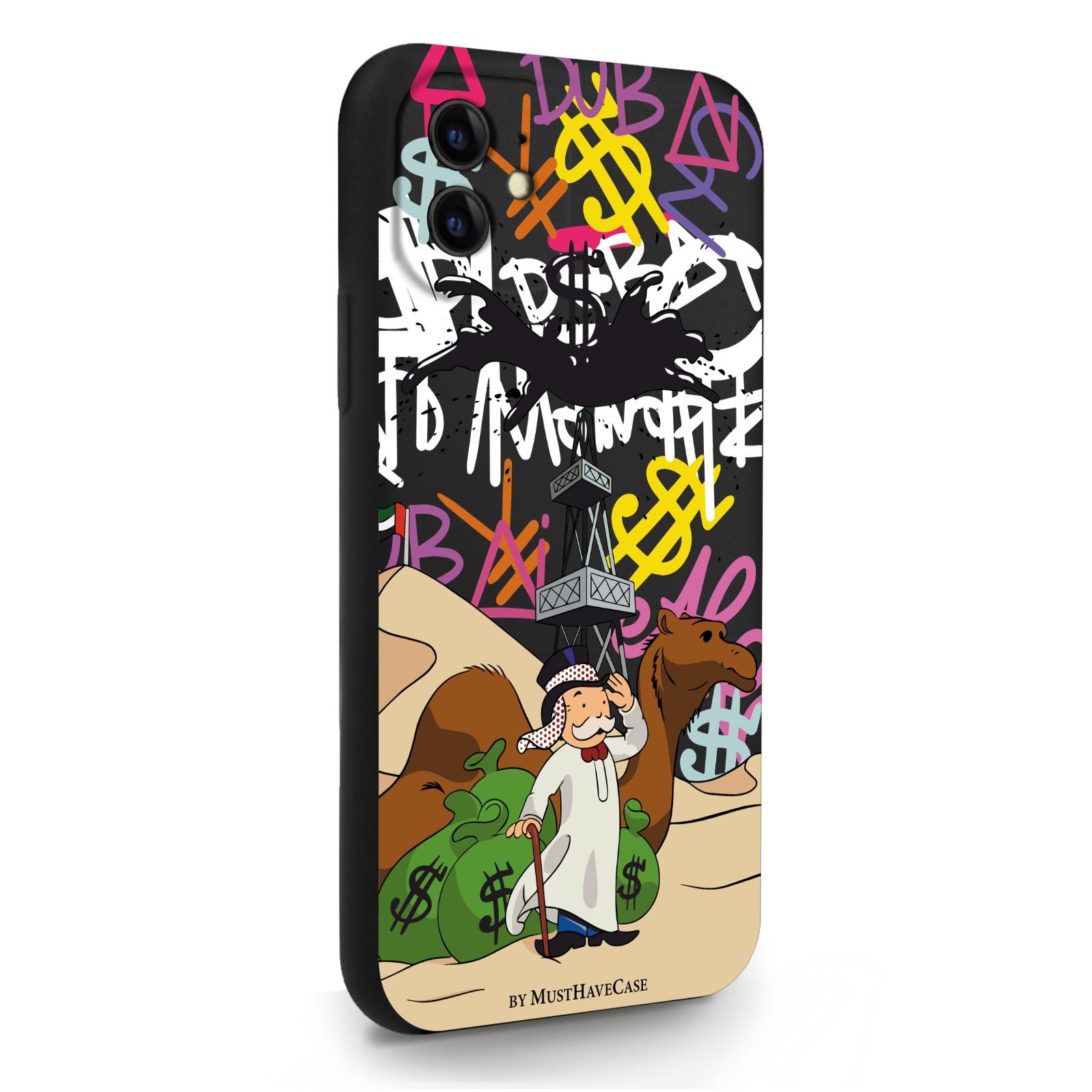 Черный силиконовый чехол для iPhone 11 Monopoly Dubai/ Дубай для Айфон 11