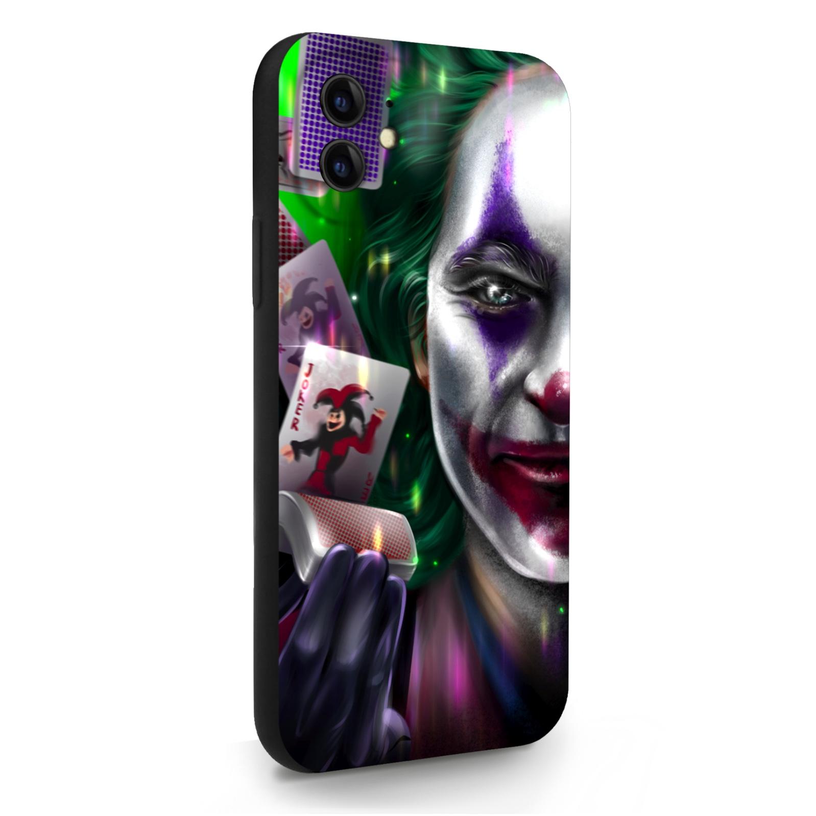 Черный силиконовый чехол для iPhone 11 Joker/ Джокер для Айфон 11