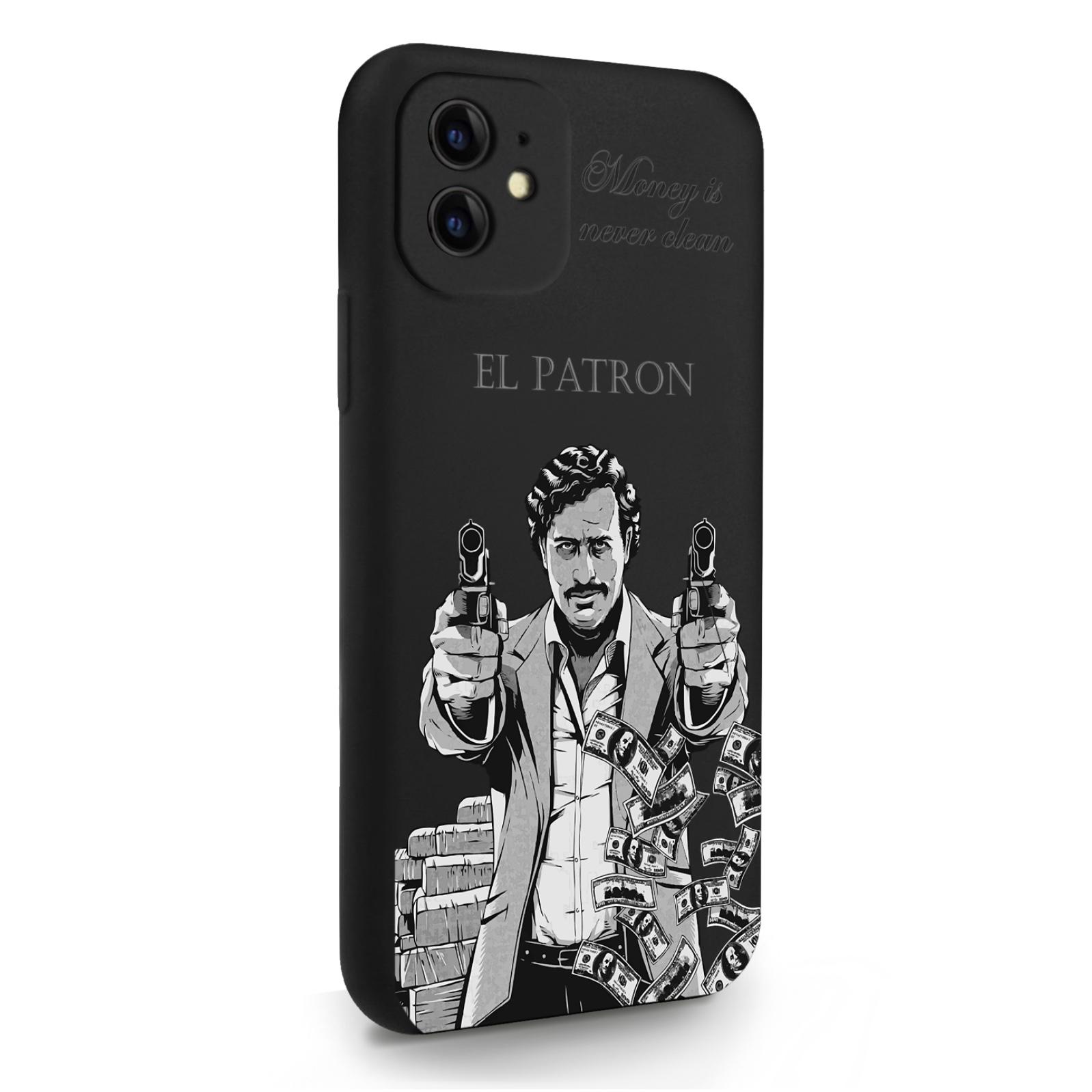Черный силиконовый чехол для iPhone 11 El Patron Pablo Escobar/ Пабло Эскобар для Айфон 11