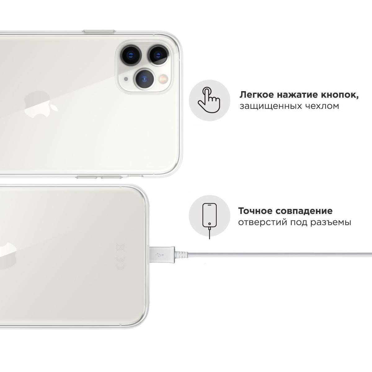Прозрачный силиконовый чехол для iPhone 11 Pro Max Panda Girl/ Панда для Айфон 11 Про Макс