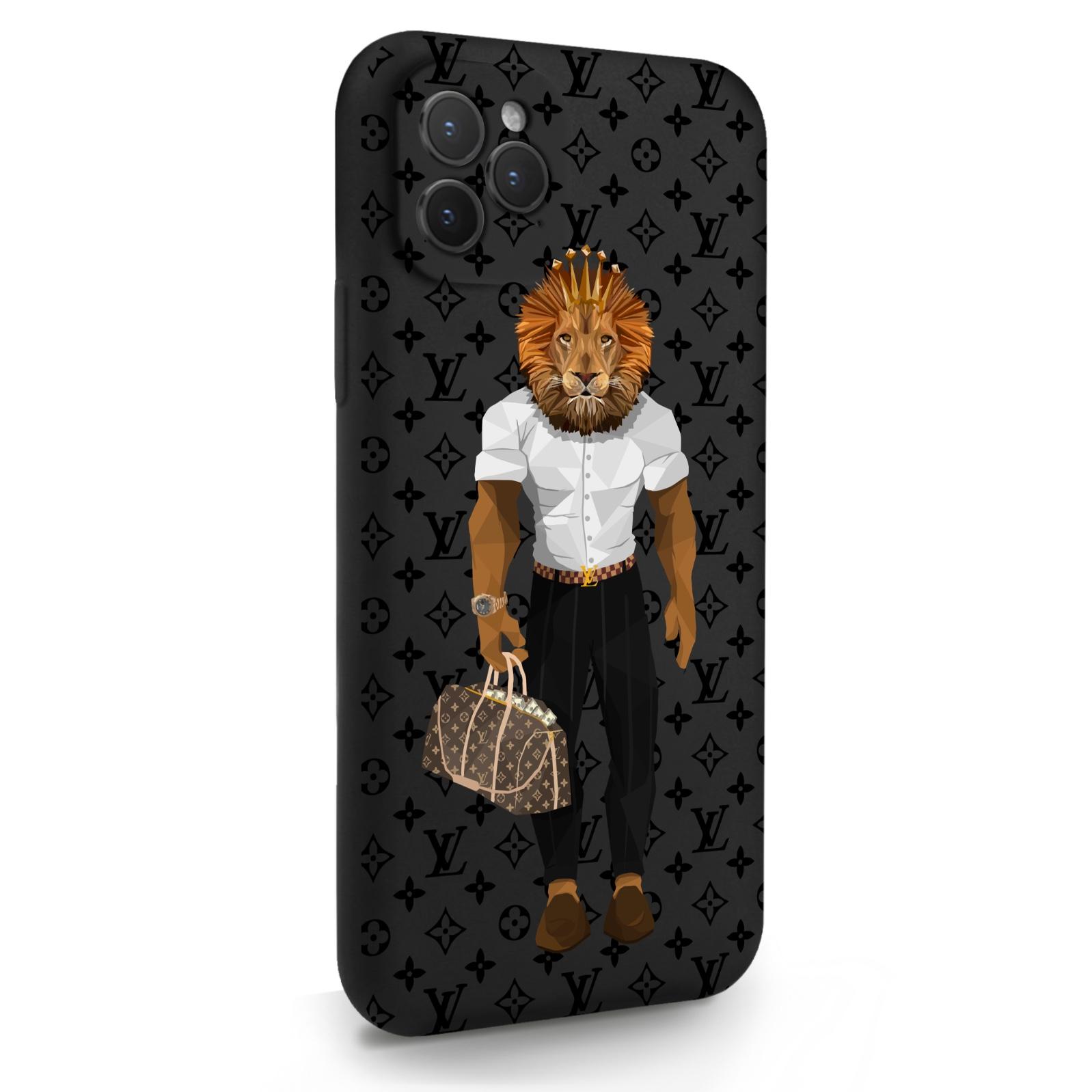 Черный силиконовый чехол для iPhone 11 Pro LV Lion для Айфон 11 Про