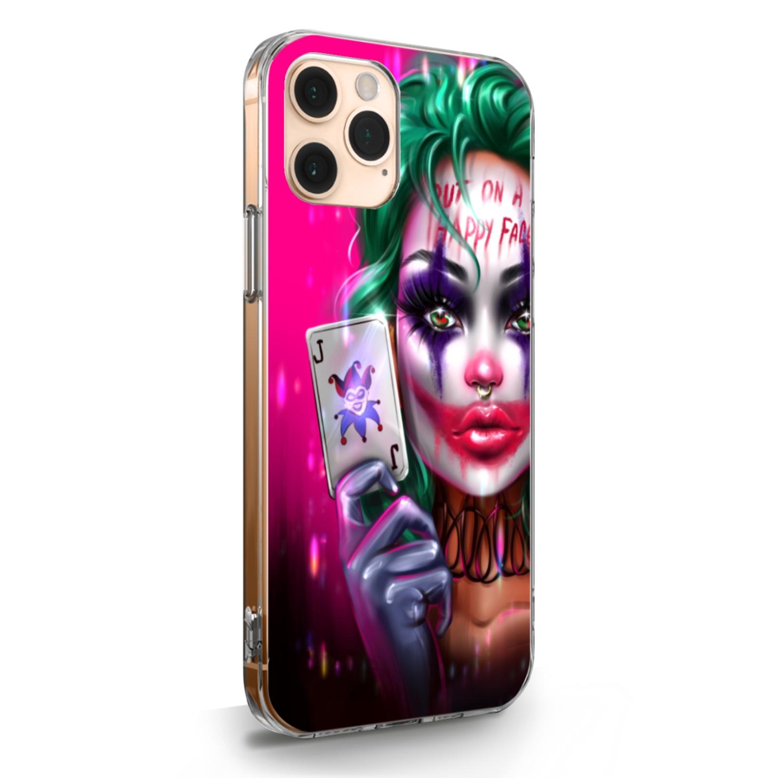 Прозрачный силиконовый чехол для iPhone 11 Pro Joker Girl/ Харли Квин для Айфон 11 Про