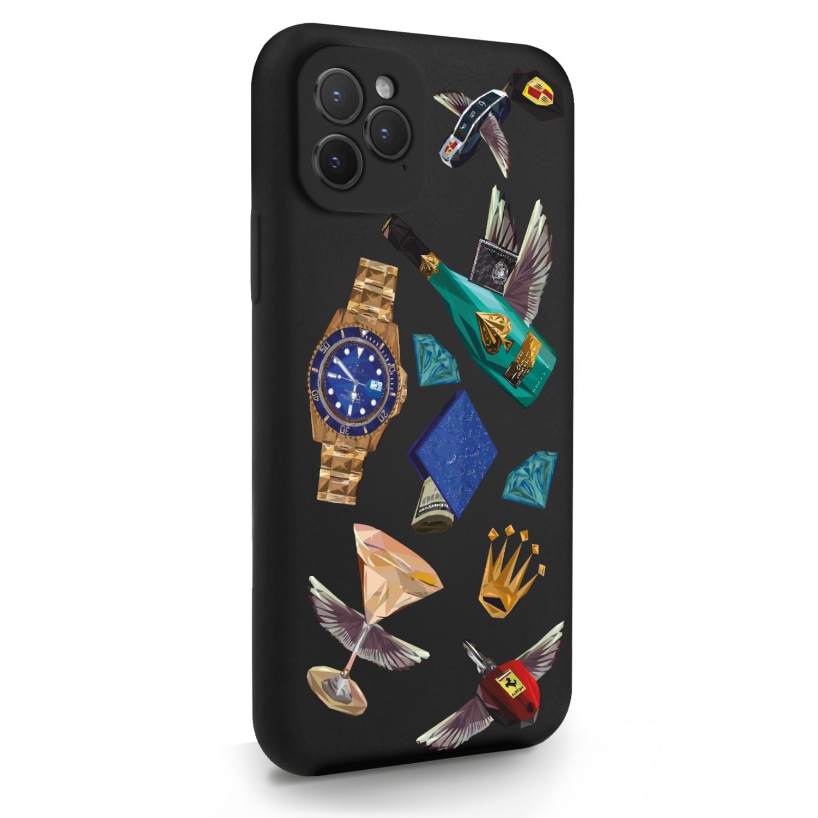 Черный силиконовый чехол для iPhone 11 Pro Luxury lifestyle для Айфон 11 Про