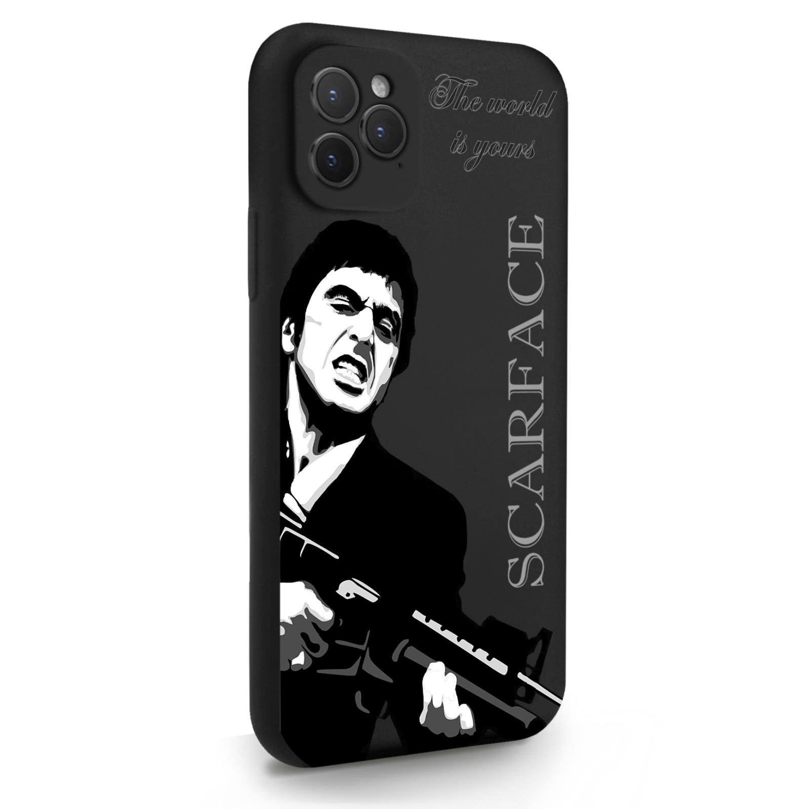 Черный силиконовый чехол для iPhone 11 Pro Scarface Tony Montana/ Лицо со шрамом для Айфон 11 Про