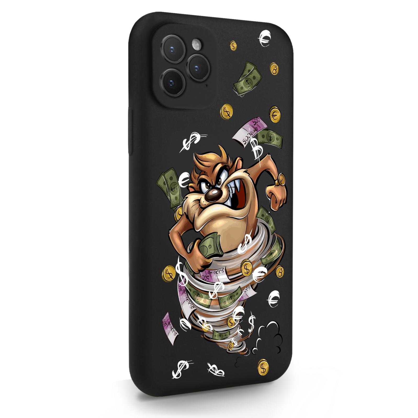 Черный силиконовый чехол для iPhone 11 Pro Торнадо для Айфон 11 Про