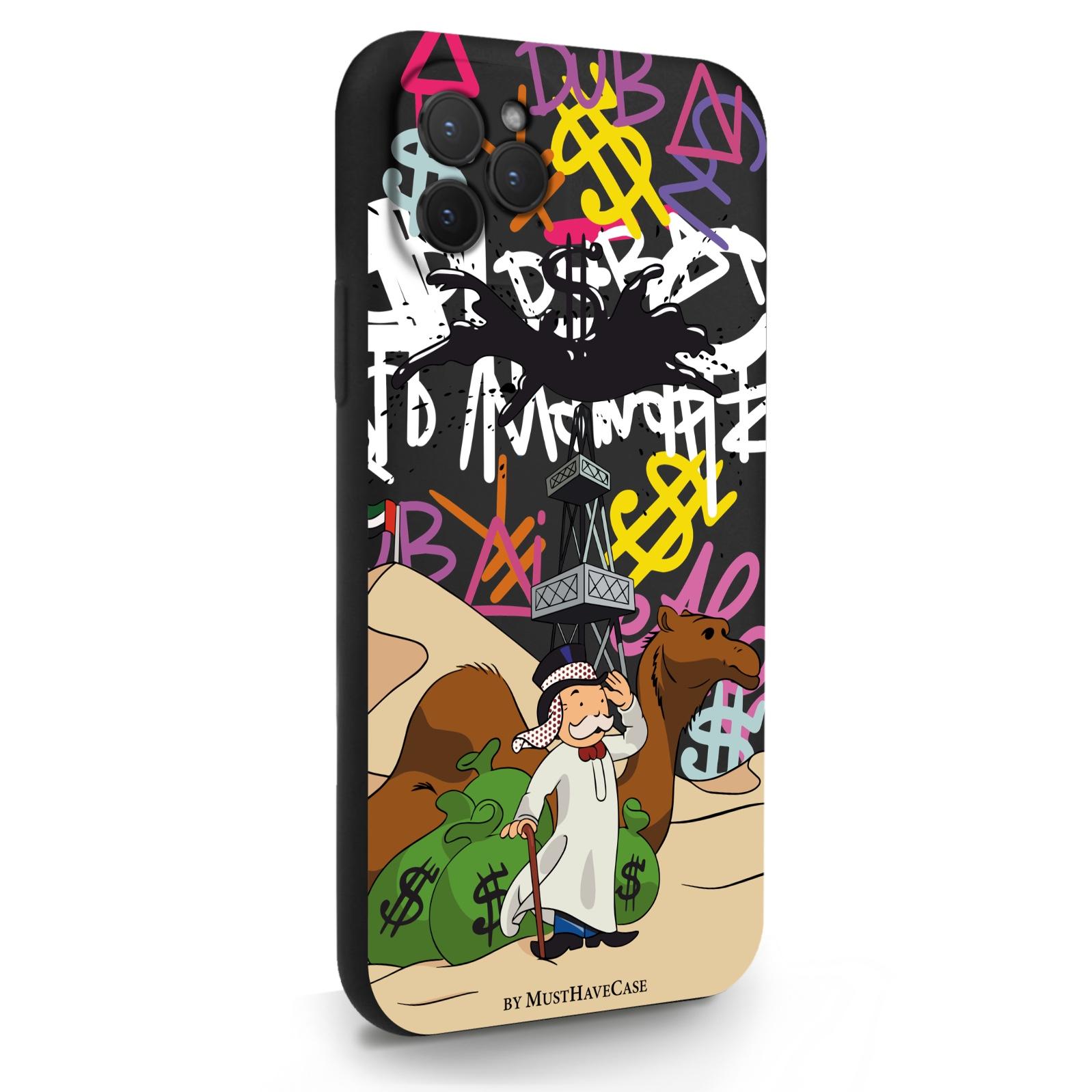 Черный силиконовый чехол для iPhone 11 Pro Monopoly Dubai/ Дубай для Айфон 11 Про