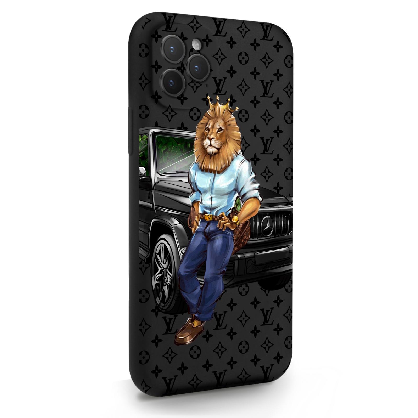 Черный силиконовый чехол для iPhone 11 Pro Lion Business для Айфон 11 Про