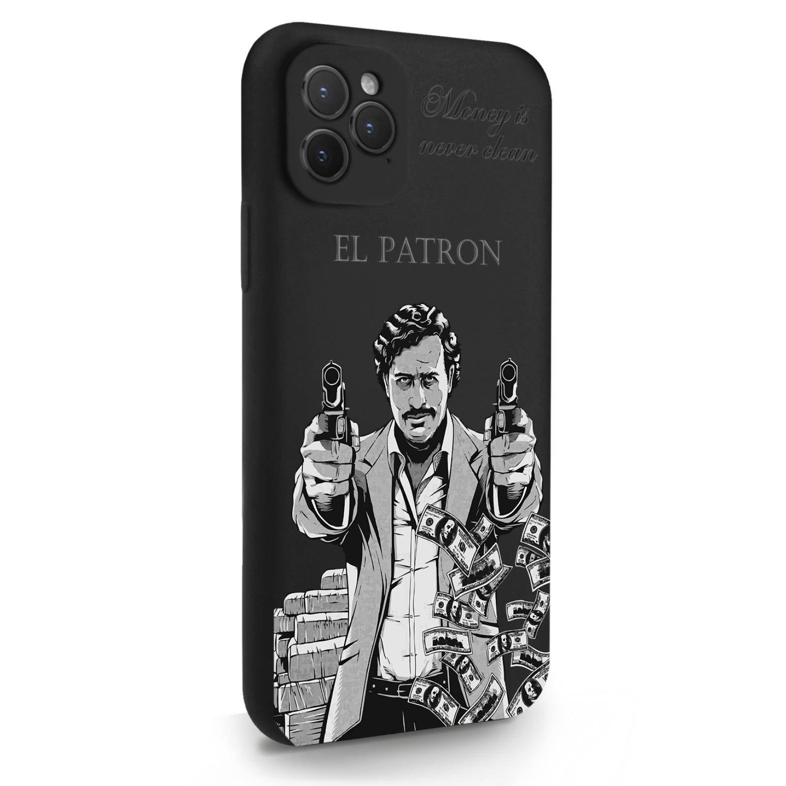 Черный силиконовый чехол для iPhone 11 Pro El Patron Pablo Escobar/ Пабло Эскобар для Айфон 11 Про