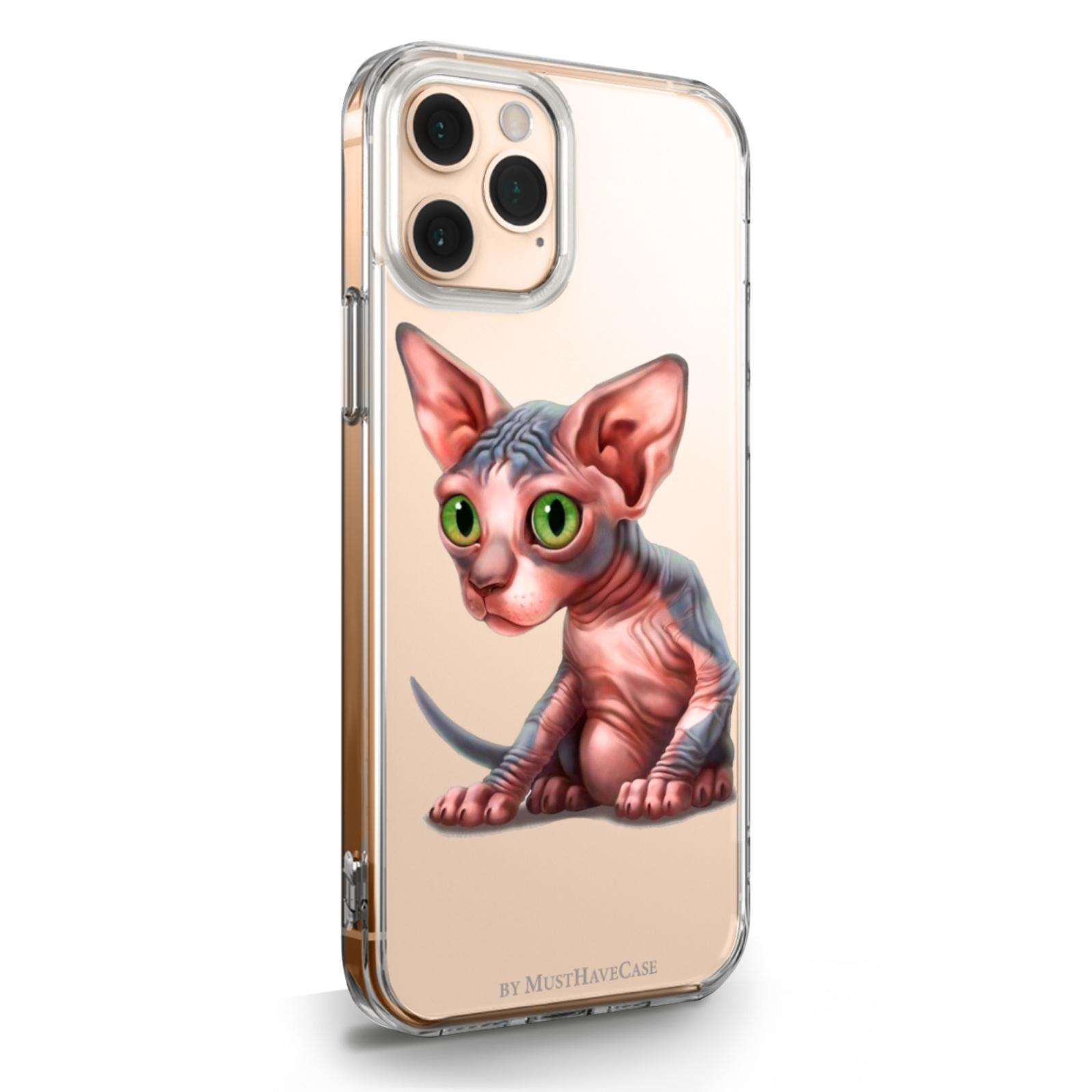 Прозрачный силиконовый чехол для iPhone 11 Pro Sphinx/ Сфинкс для Айфон 11 Про