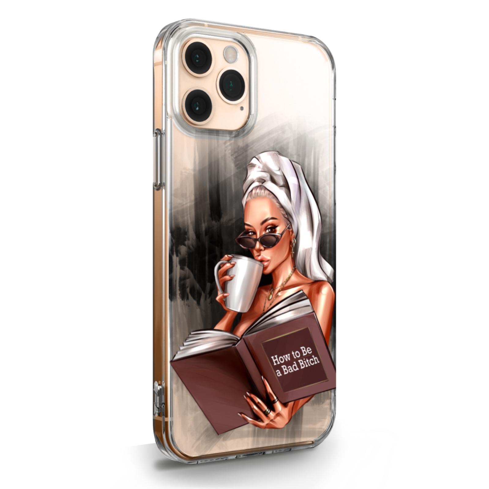 Прозрачный силиконовый чехол для iPhone 11 Pro How to be a bad Bitch для Айфон 11 Про
