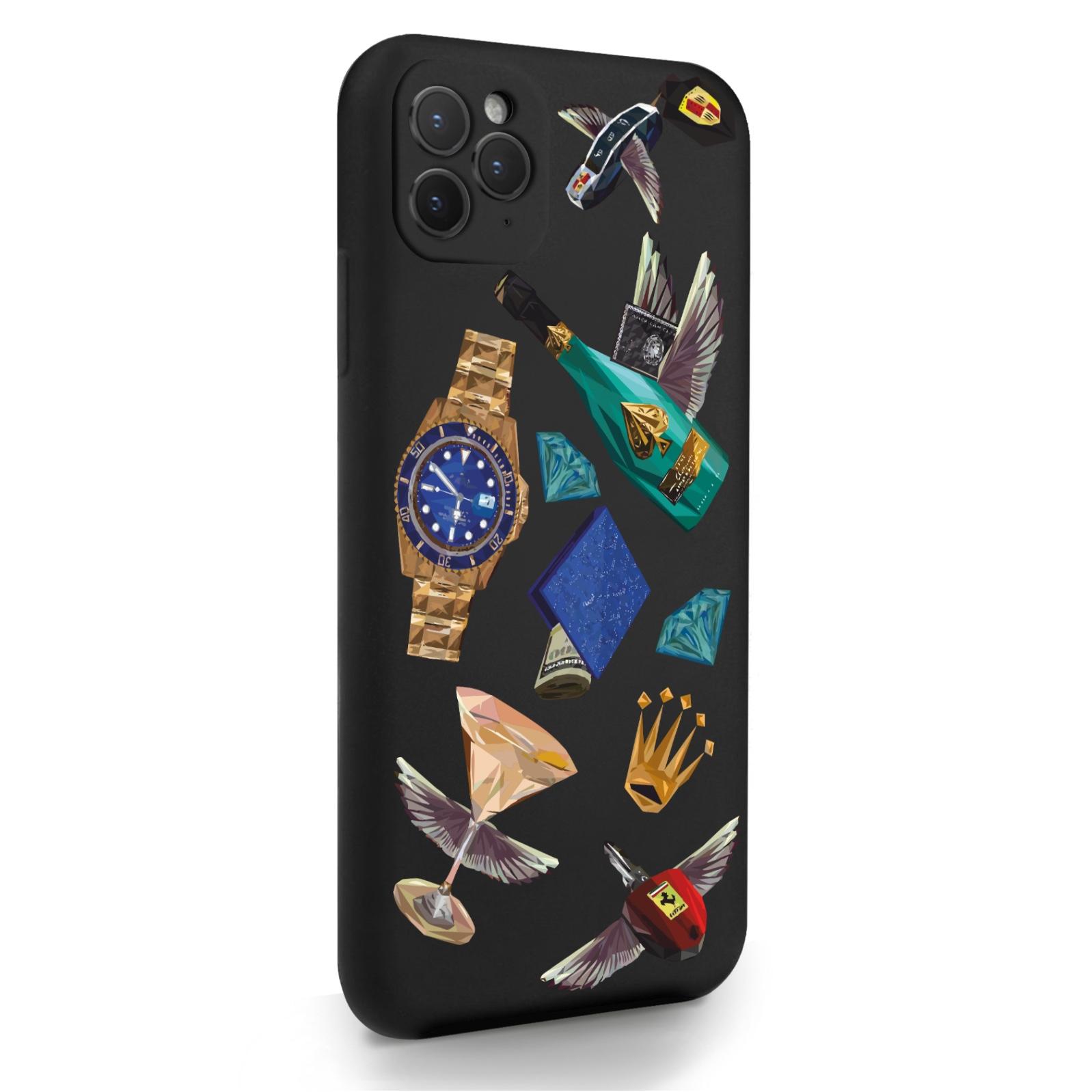 Черный силиконовый чехол для iPhone 11 Pro Max Luxury lifestyle для Айфон 11 Про Макс