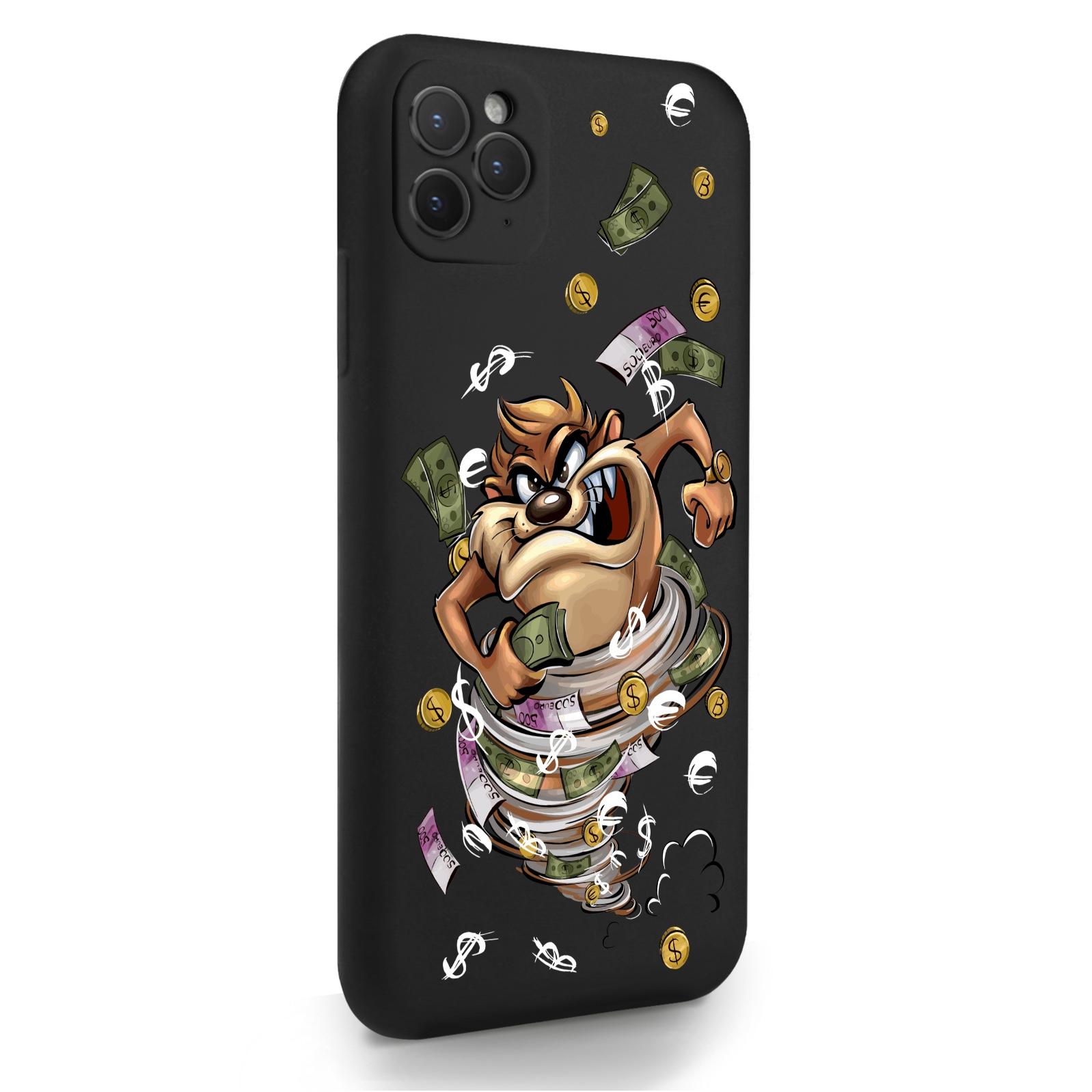 Черный силиконовый чехол для iPhone 11 Pro Max Торнадо для Айфон 11 Про Макс