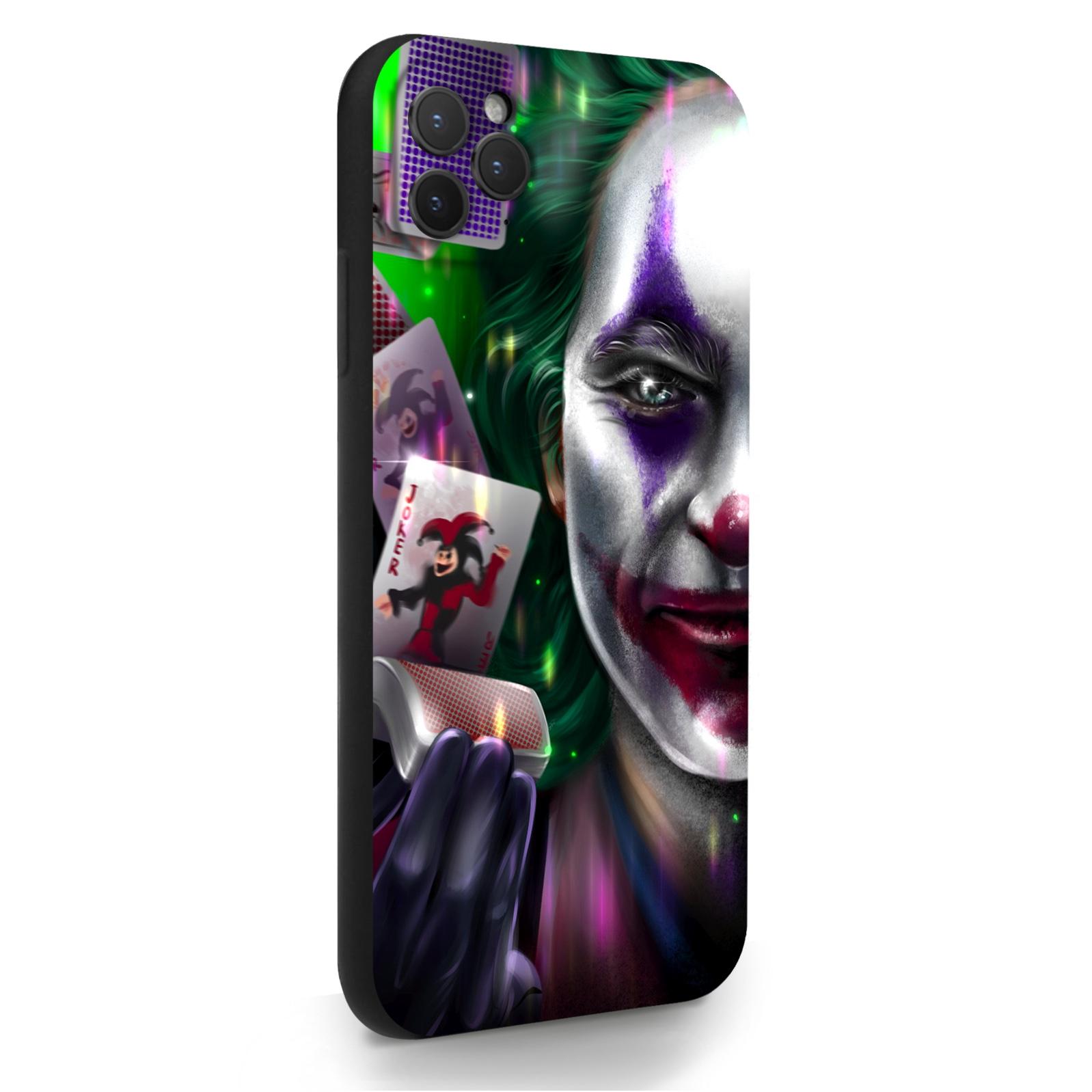 Черный силиконовый чехол для iPhone 11 Pro Max Joker/ Джокер для Айфон 11 Про Макс