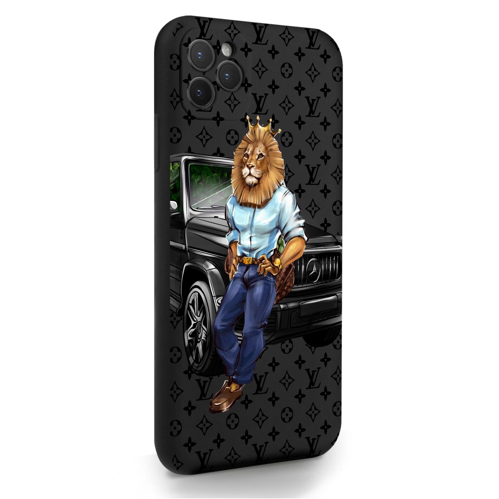 Черный силиконовый чехол для iPhone 11 Pro Max Lion Business для Айфон 11 Про Макс