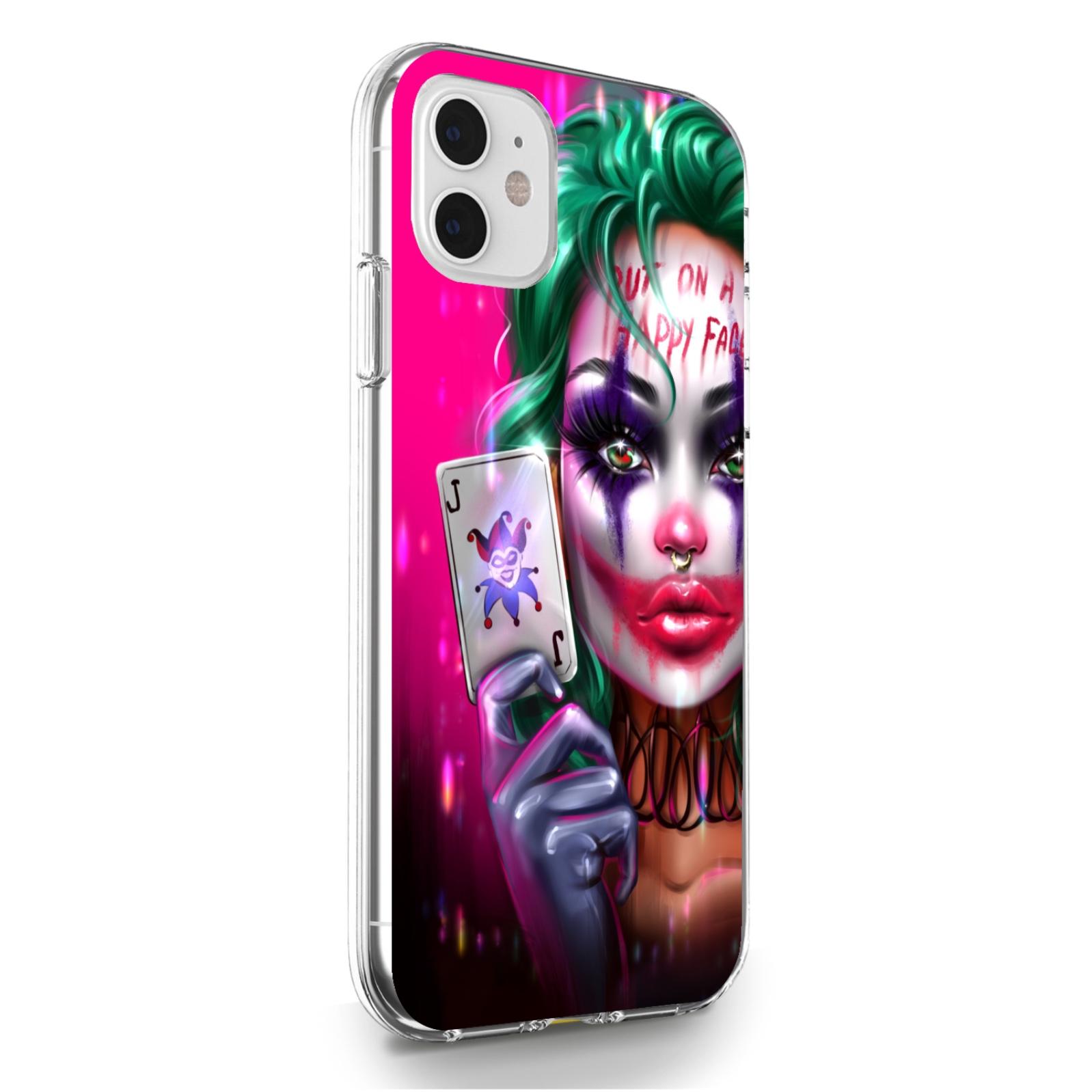 Прозрачный силиконовый чехол для iPhone 11 Joker Girl/ Харли Квин для Айфон 11
