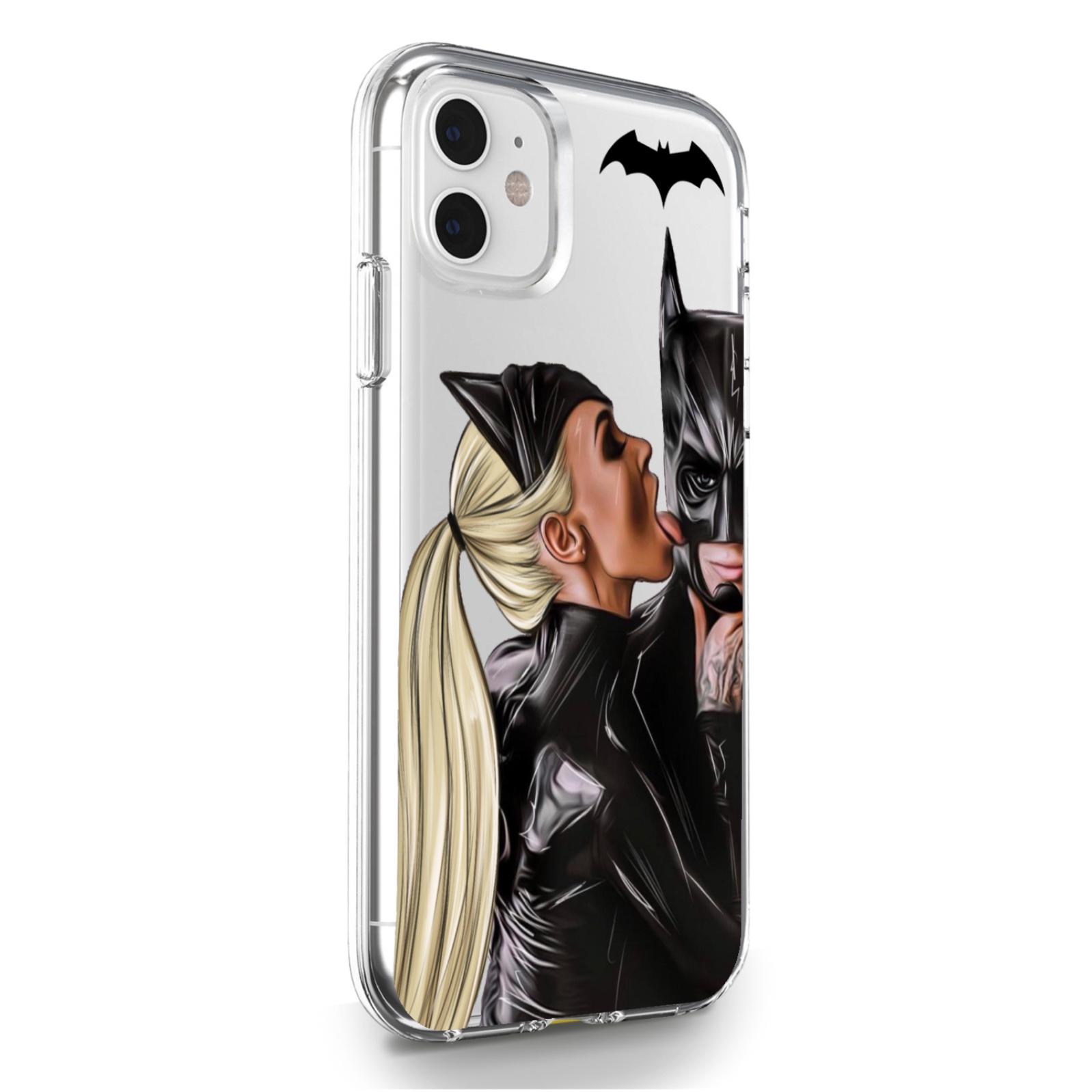 Прозрачный силиконовый чехол для iPhone 11 Cat Woman/ Женщина кошка Блондинка для Айфон 11