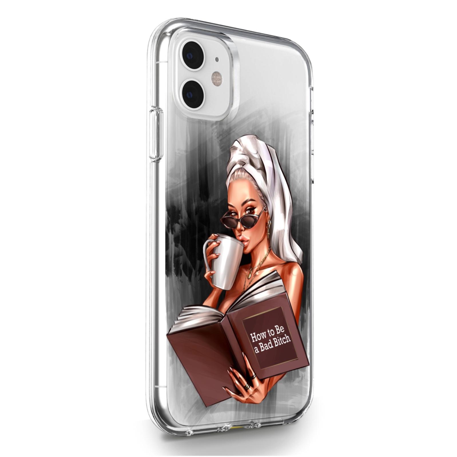 Прозрачный силиконовый чехол для iPhone 11 How to be a bad Bitch для Айфон 11