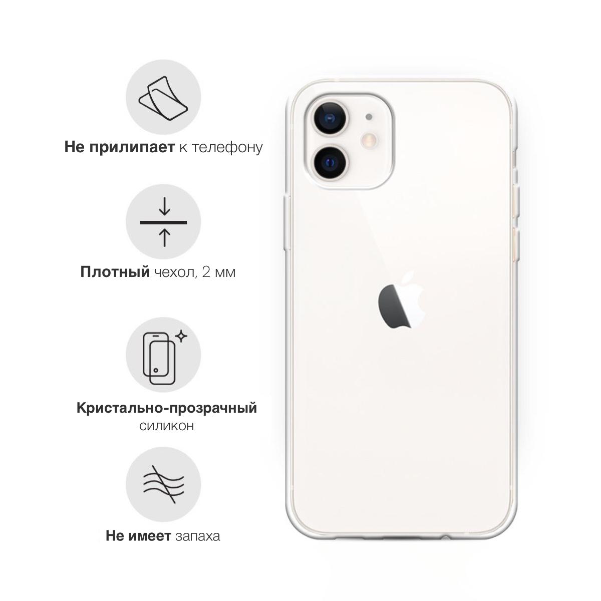 Прозрачный силиконовый чехол для iPhone 12 Mini Panda Girl/ Панда для Айфон 12 Мини