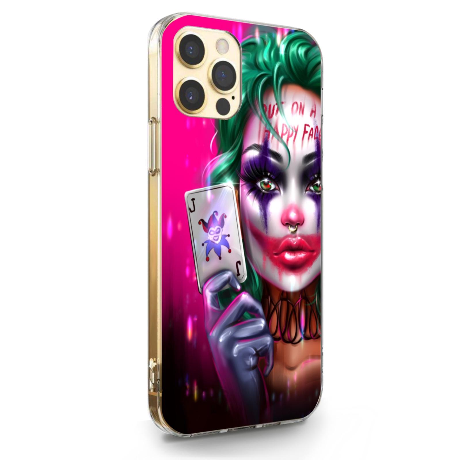 Прозрачный силиконовый чехол для iPhone 12/12 Pro Joker Girl/ Харли Квин для Айфон 12/12 Про