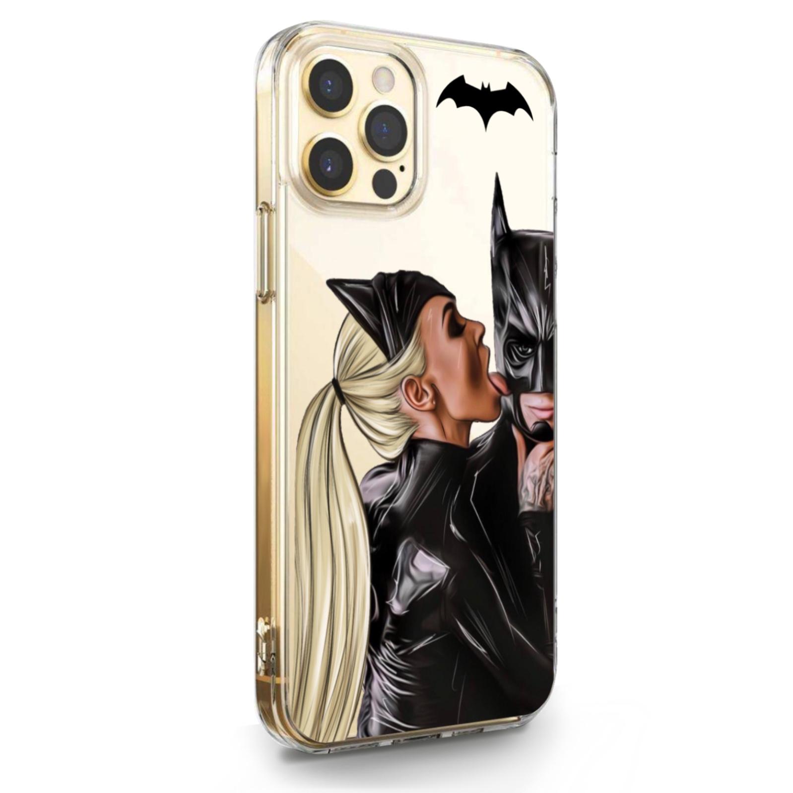 Прозрачный силиконовый чехол для iPhone 12/12 Pro Cat Woman/ Женщина кошка Блондинка для Айфон 12/12 Про