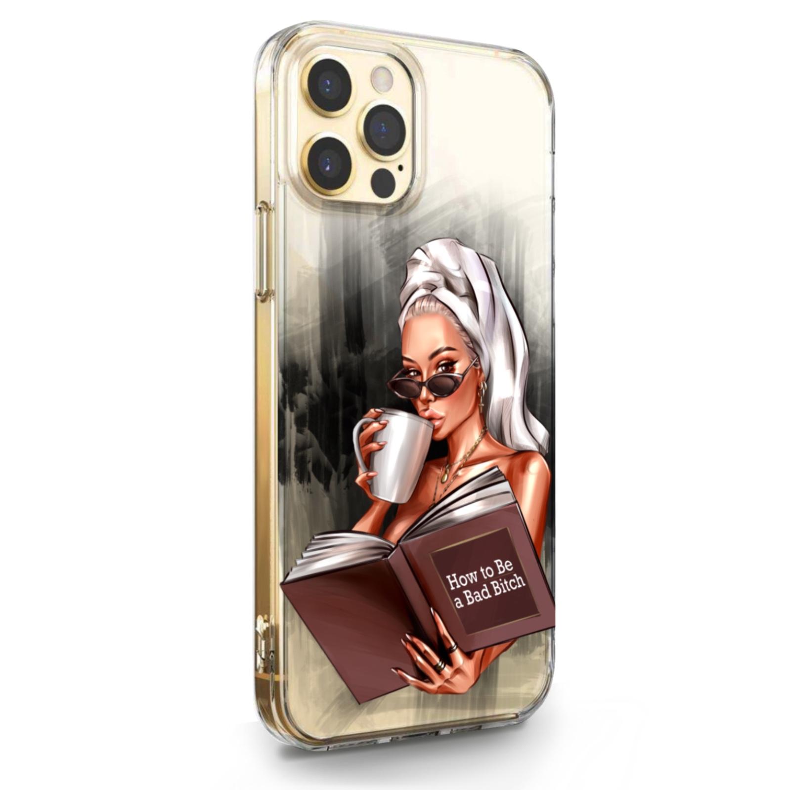 Прозрачный силиконовый чехол для iPhone 12/12 Pro How to be a bad Bitch для Айфон 12/12 Про