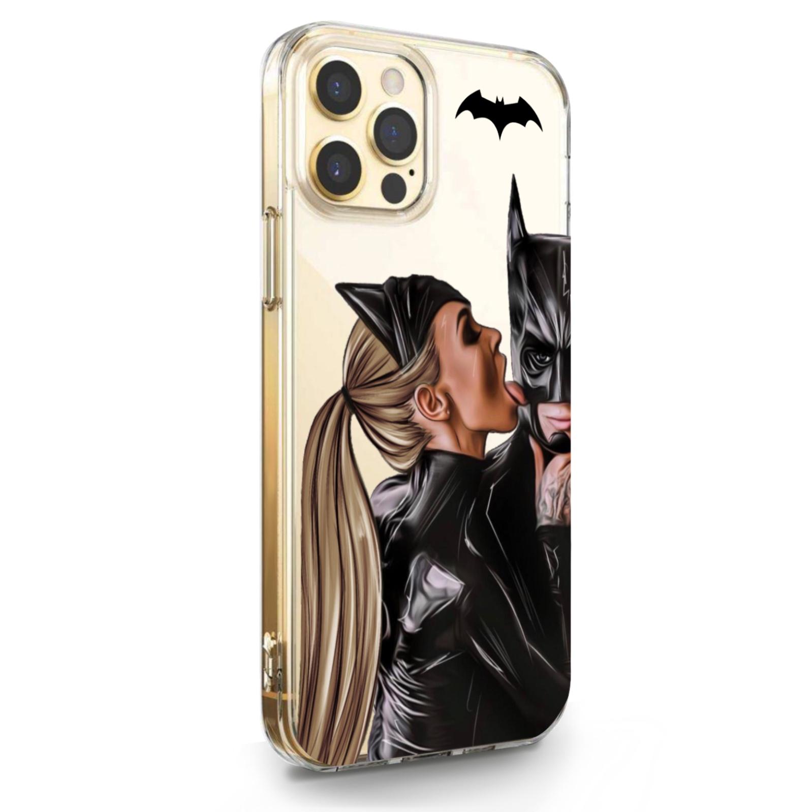 Прозрачный силиконовый чехол для iPhone 12/12 Pro Cat Woman/ Женщина кошка Русая для Айфон 12/12 Про
