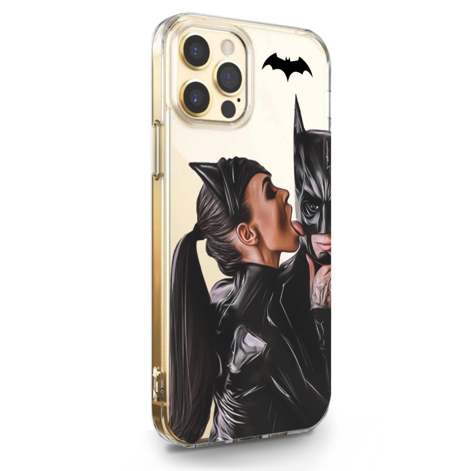 Прозрачный силиконовый чехол для iPhone 12/12 Pro Cat Woman/ Женщина кошка Брюнетка для Айфон 12/12 Про