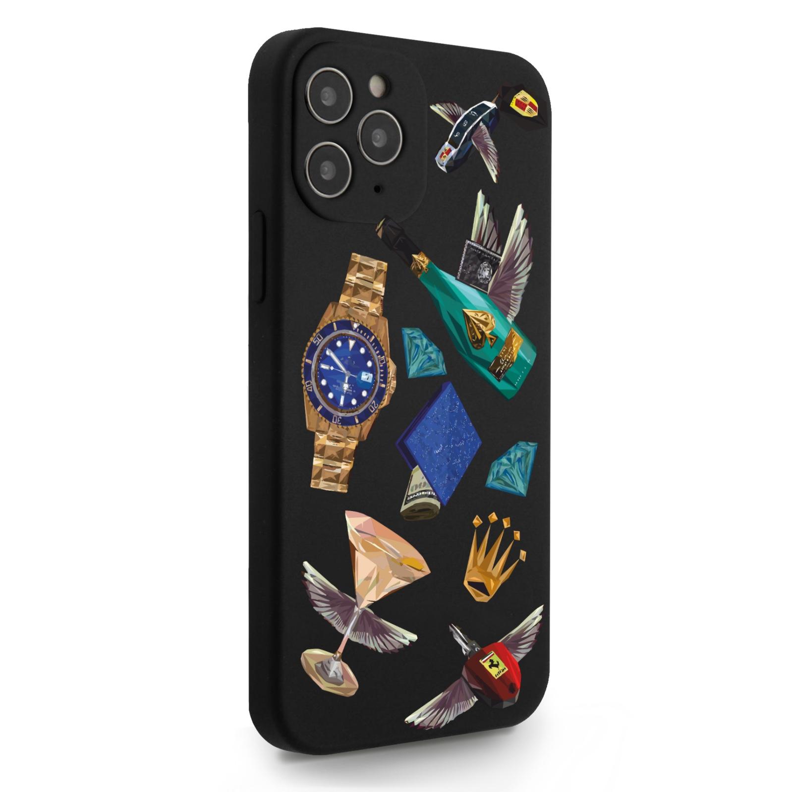 Черный силиконовый чехол для iPhone 12/12 Pro Luxury lifestyle для Айфон 12/12 Про