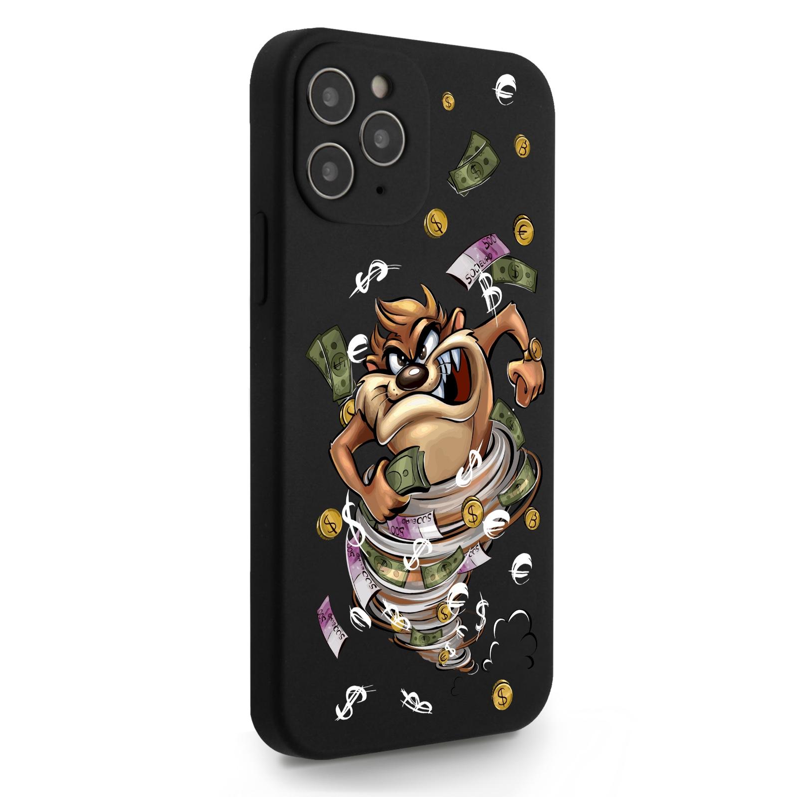 Черный силиконовый чехол для iPhone 12/12 Pro Торнадо для Айфон 12/12 Про
