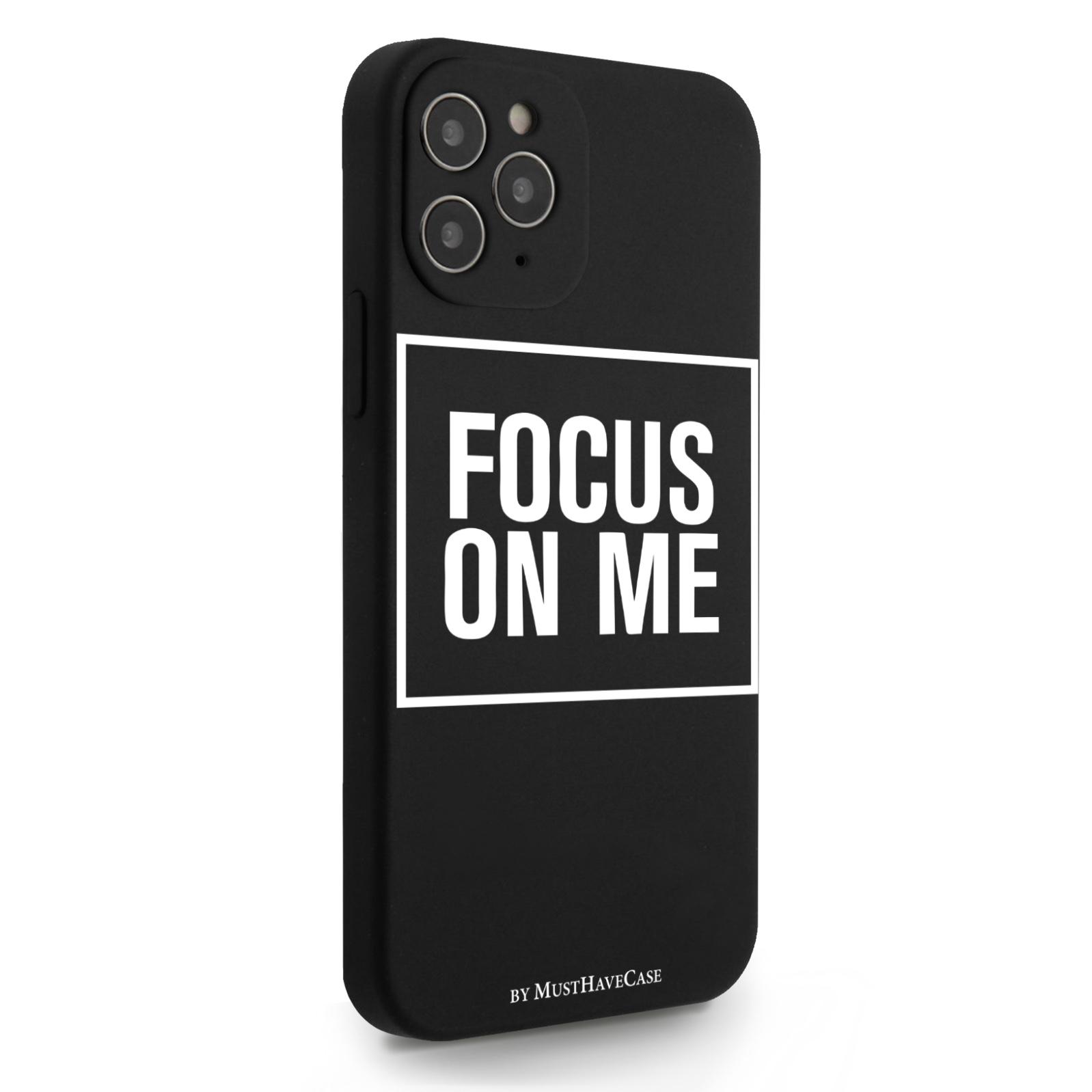 Черный силиконовый чехол для iPhone 12/12 Pro Focus on me для Айфон 12/12 Про