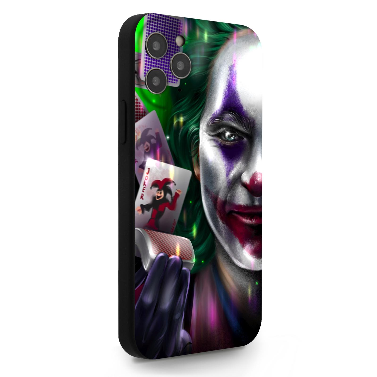 Черный силиконовый чехол для iPhone 12/12 Pro Joker/ Джокер для Айфон 12/12 Про