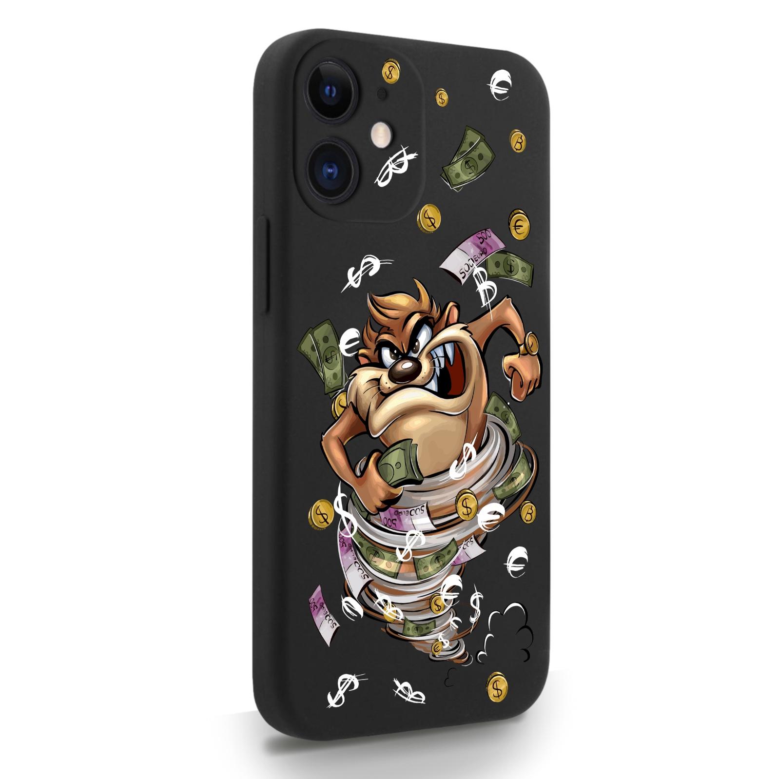 Черный силиконовый чехол для iPhone 12 Mini Торнадо для Айфон 12 Мини