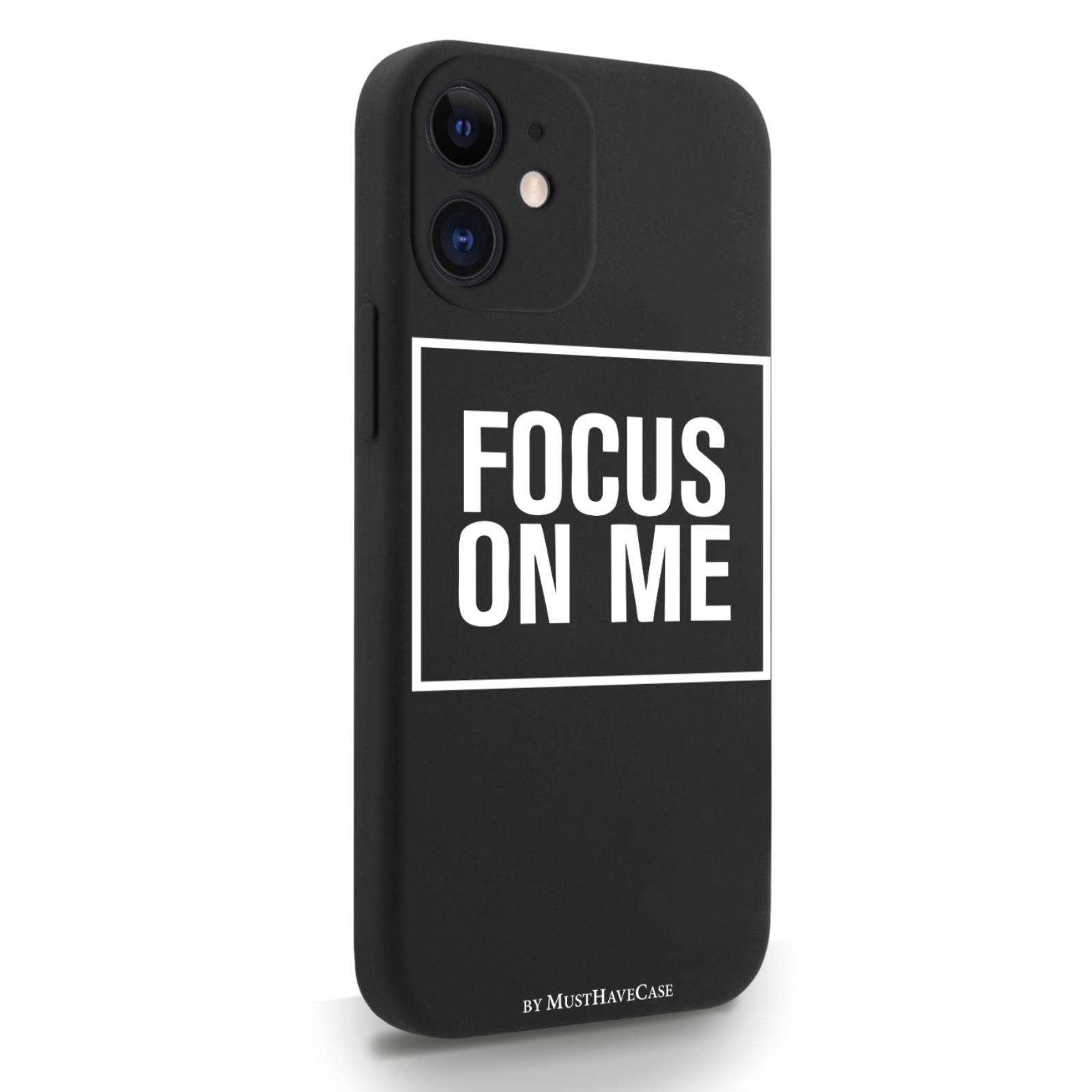 Черный силиконовый чехол для iPhone 12 Mini Focus on me для Айфон 12 Мини