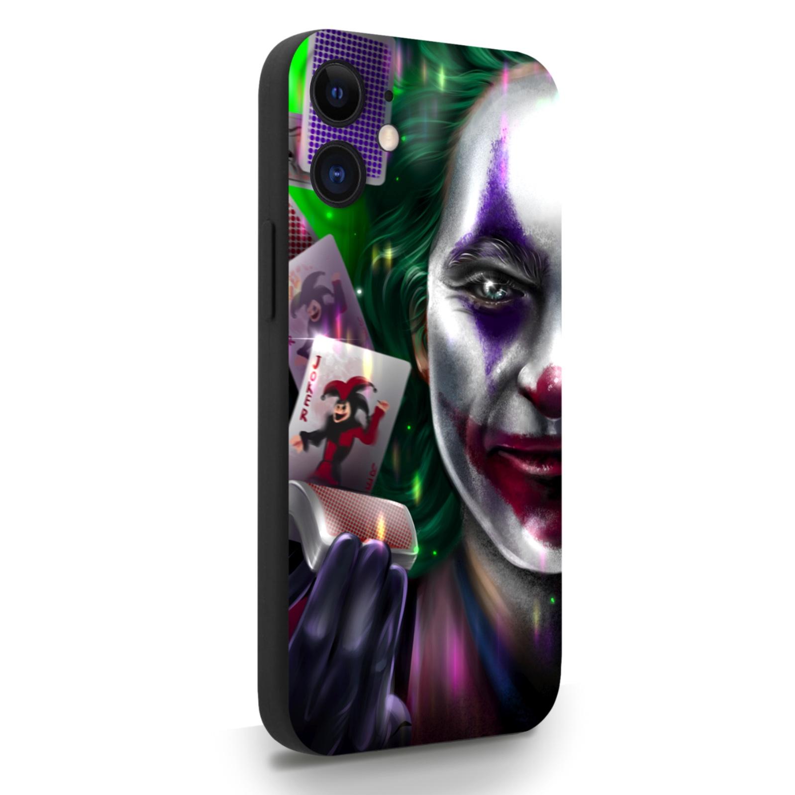 Черный силиконовый чехол для iPhone 12 Mini Joker/ Джокер для Айфон 12 Мини