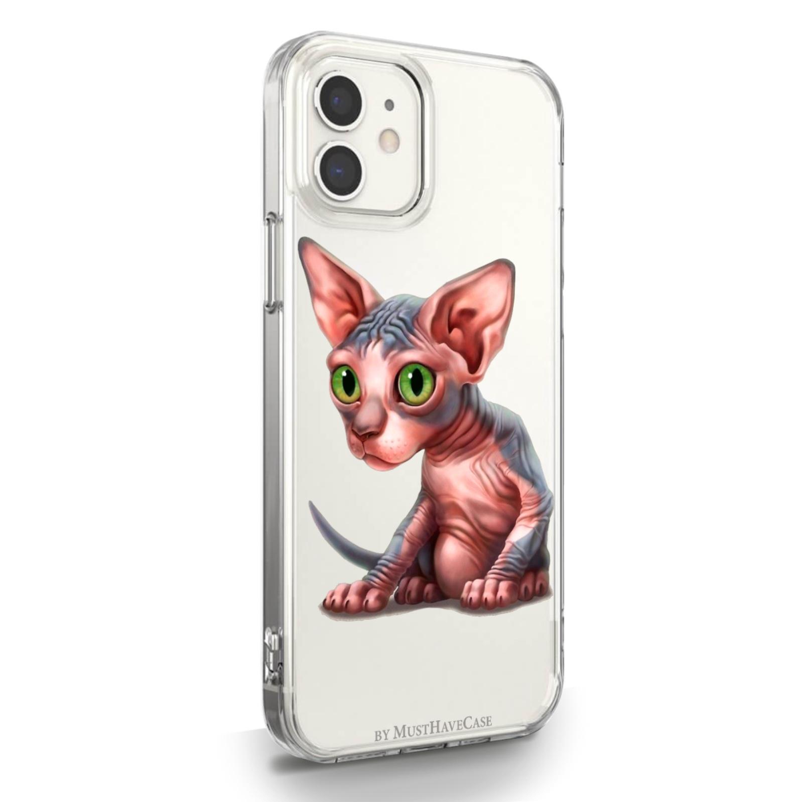 Прозрачный силиконовый чехол для iPhone 12 Mini Sphinx/ Сфинкс для Айфон 12 Мини