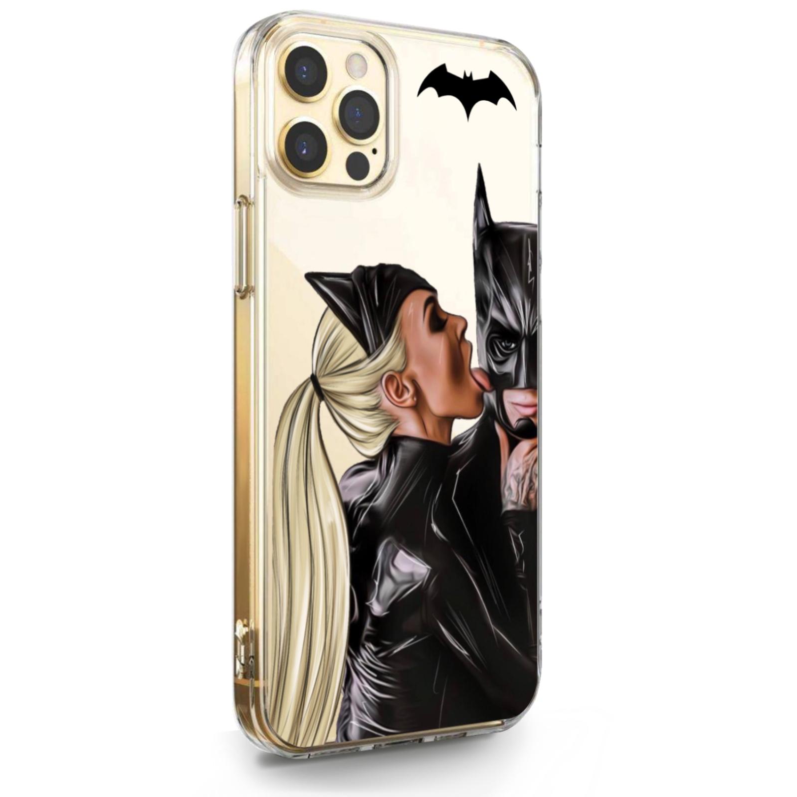 Прозрачный силиконовый чехол для iPhone 12 Pro Max Cat Woman/ Женщина кошка Блондинка для Айфон 12 Про Макс