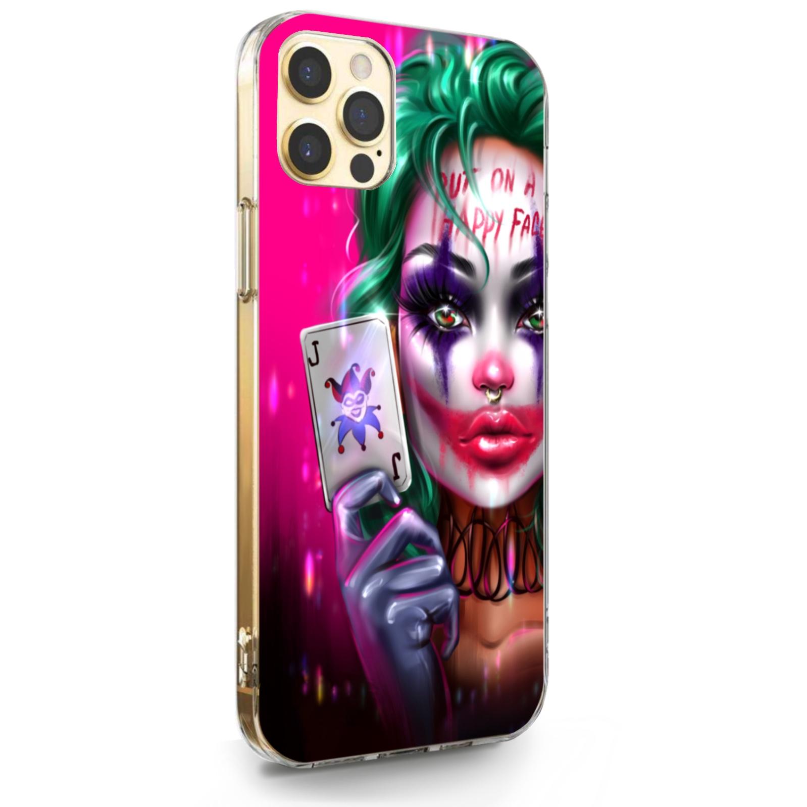 Прозрачный силиконовый чехол для iPhone 12 Pro Max Joker Girl/ Харли Квин для Айфон 12 Про Макс
