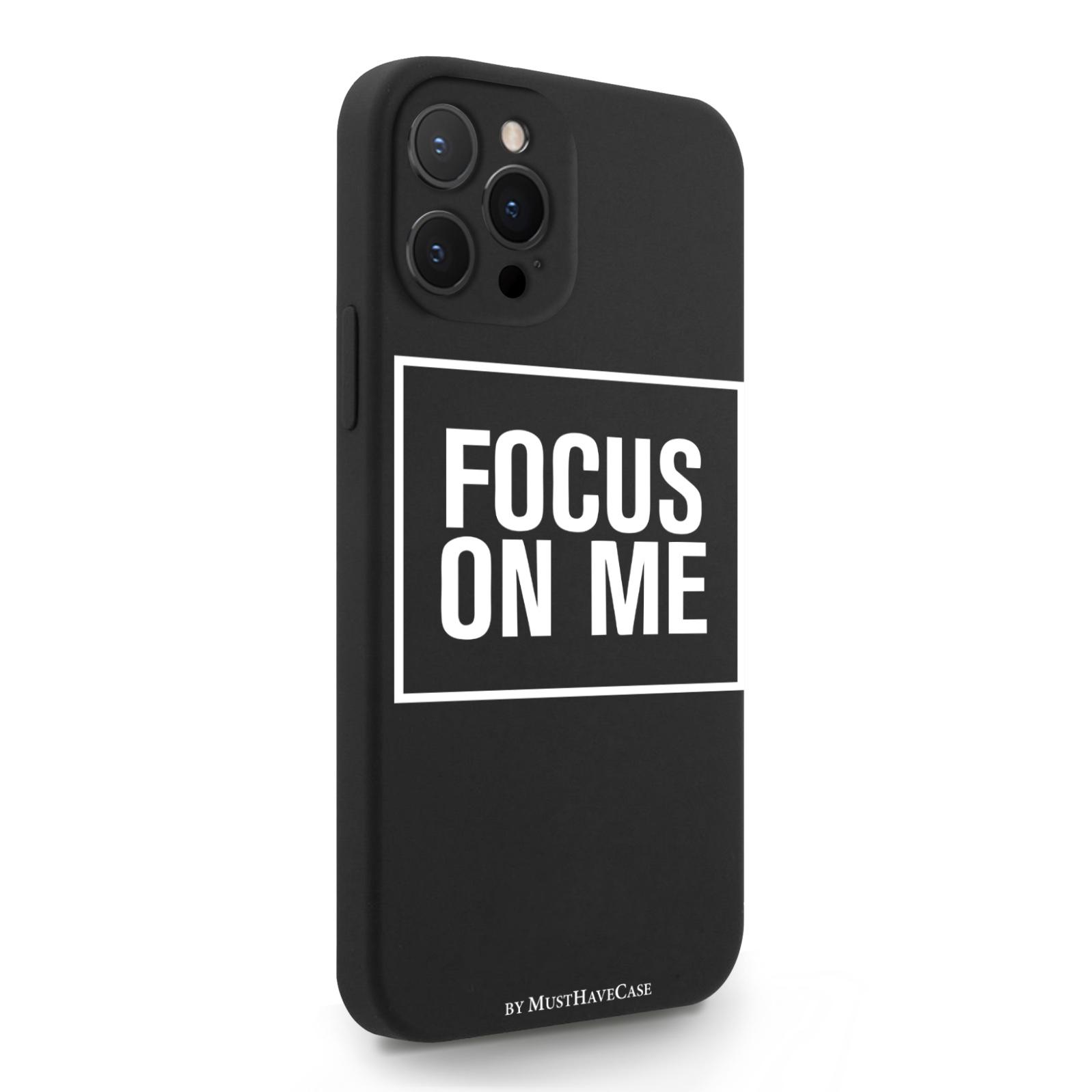 Черный силиконовый чехол для iPhone 12 Pro Max Focus on me для Айфон 12 Про Макс