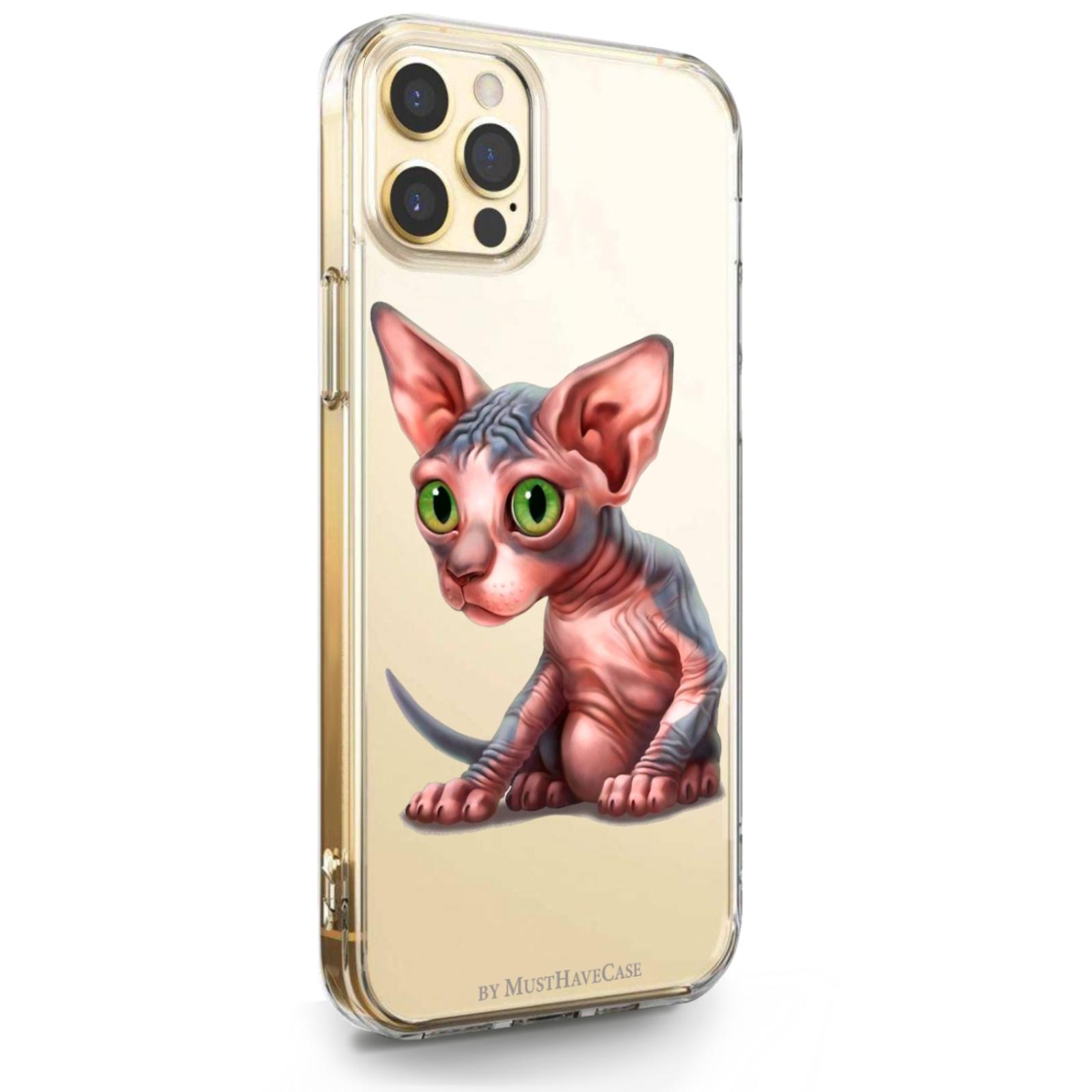 Прозрачный силиконовый чехол для iPhone 12 Pro Max Sphinx/ Сфинкс для Айфон 12 Про Макс