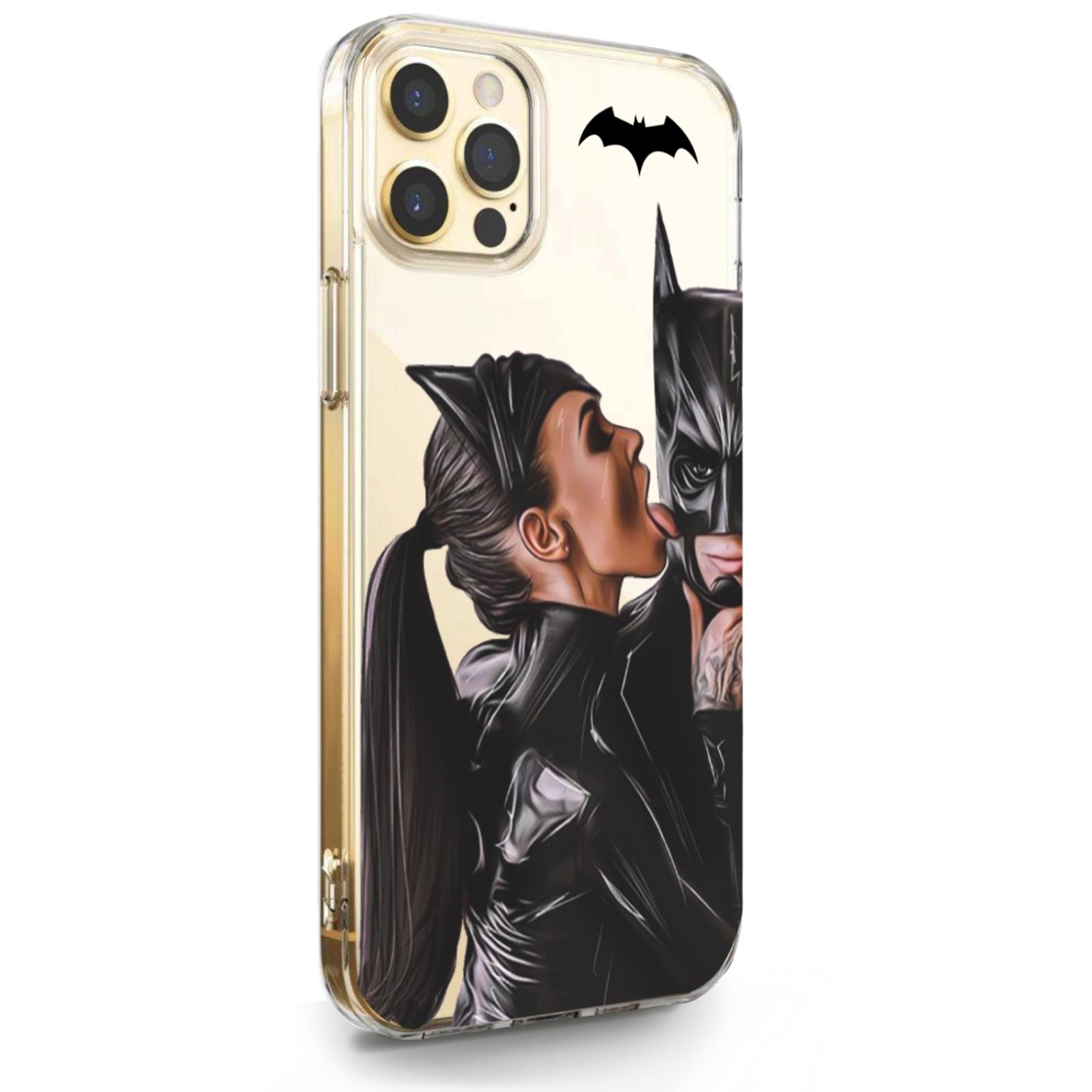 Прозрачный силиконовый чехол для iPhone 12 Pro Max Cat Woman/ Женщина кошка Брюнетка для Айфон 12 Про Макс