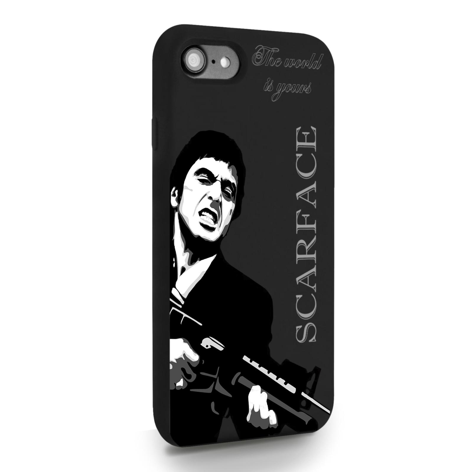 Черный силиконовый чехол для iPhone 7/8/SE2020 Scarface Tony Montana Лицо со шрамом для Айфон 7/8/СЕ2020