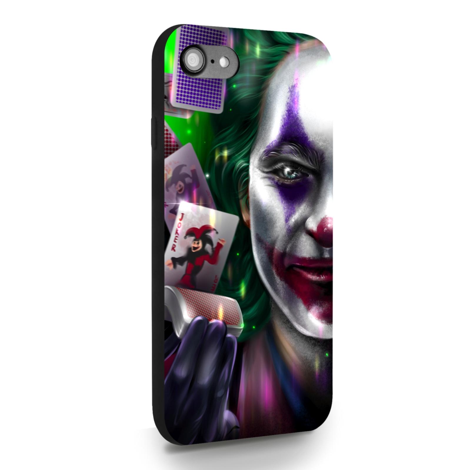 Черный силиконовый чехол для iPhone 7/8/SE2020 Joker/ Джокер для Айфон 7/8/СЕ2020