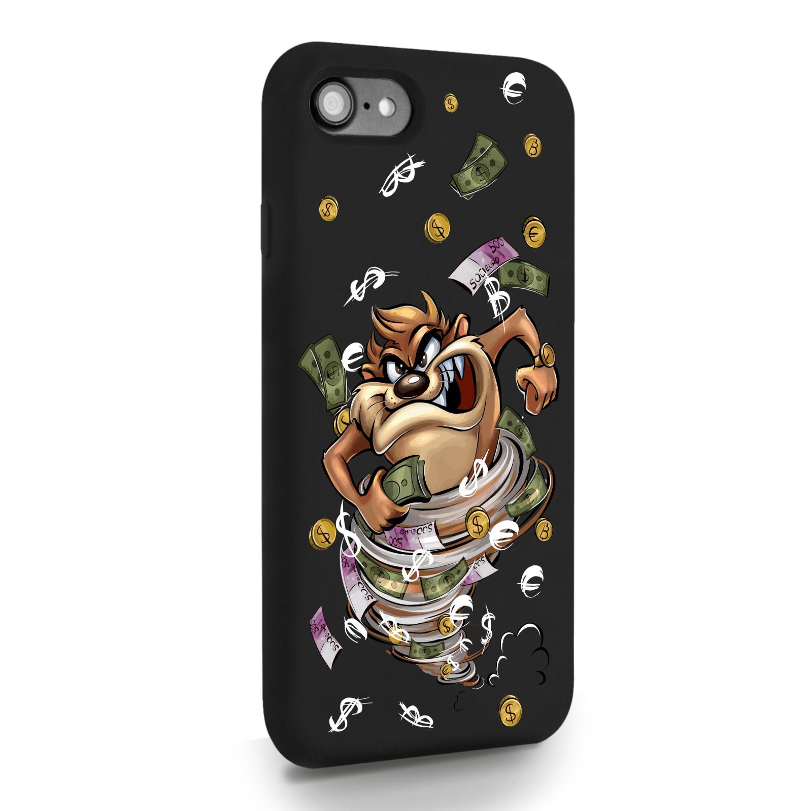 Черный силиконовый чехол для iPhone 7/8/SE2020 Торнадо для Айфон 7/8/СЕ2020