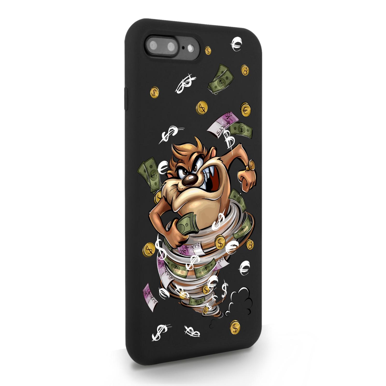 Черный силиконовый чехол для iPhone 7/8 Plus Торнадо для Айфон 7/8 Плюс