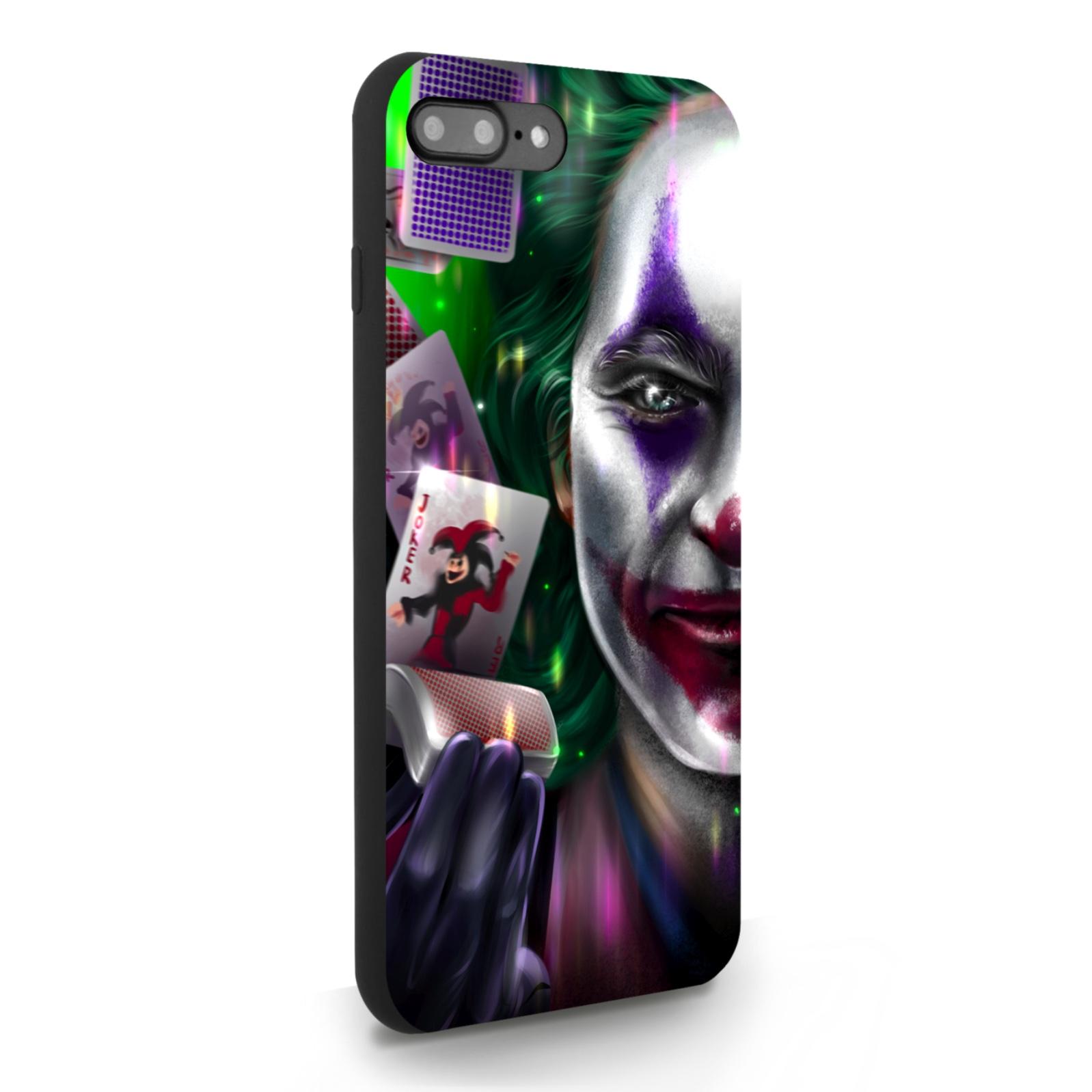 Черный силиконовый чехол для iPhone 7/8 Plus Joker/ Джокер для Айфон 7/8 Плюс