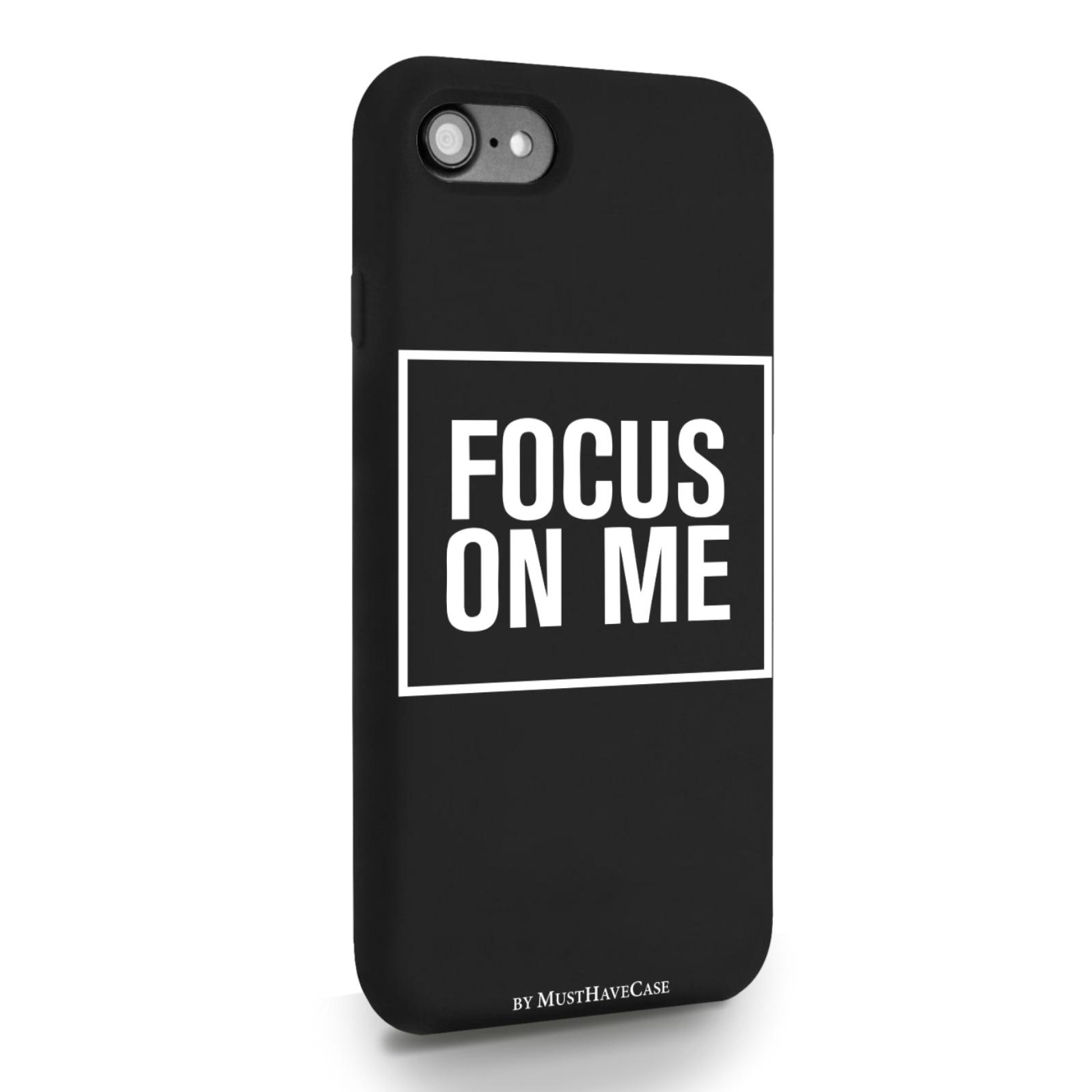 Черный силиконовый чехол для iPhone 7/8/SE2020 Focus on me для Айфон 7/8/СЕ2020